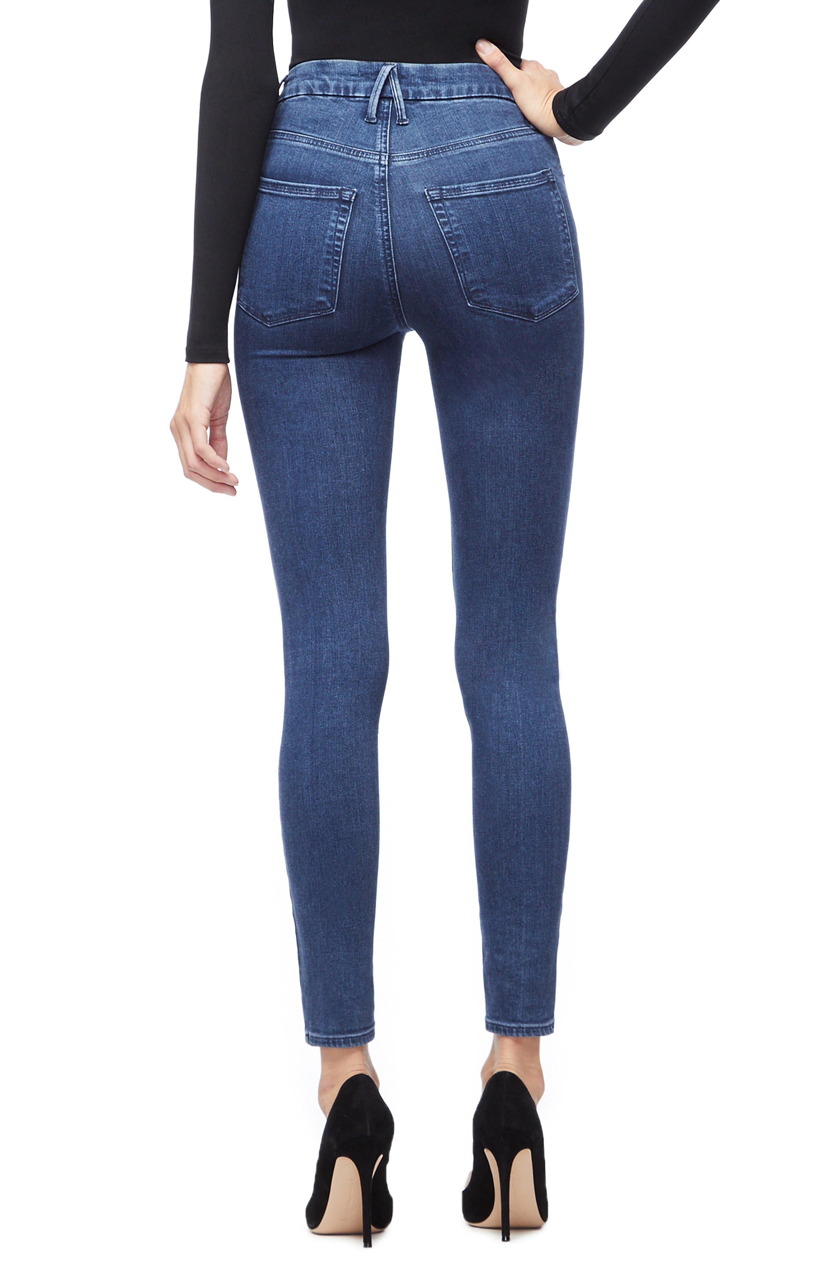 Good Waist High Waist Skinny Jeans,                             Alternate thumbnail 2, color,                             BLUE205