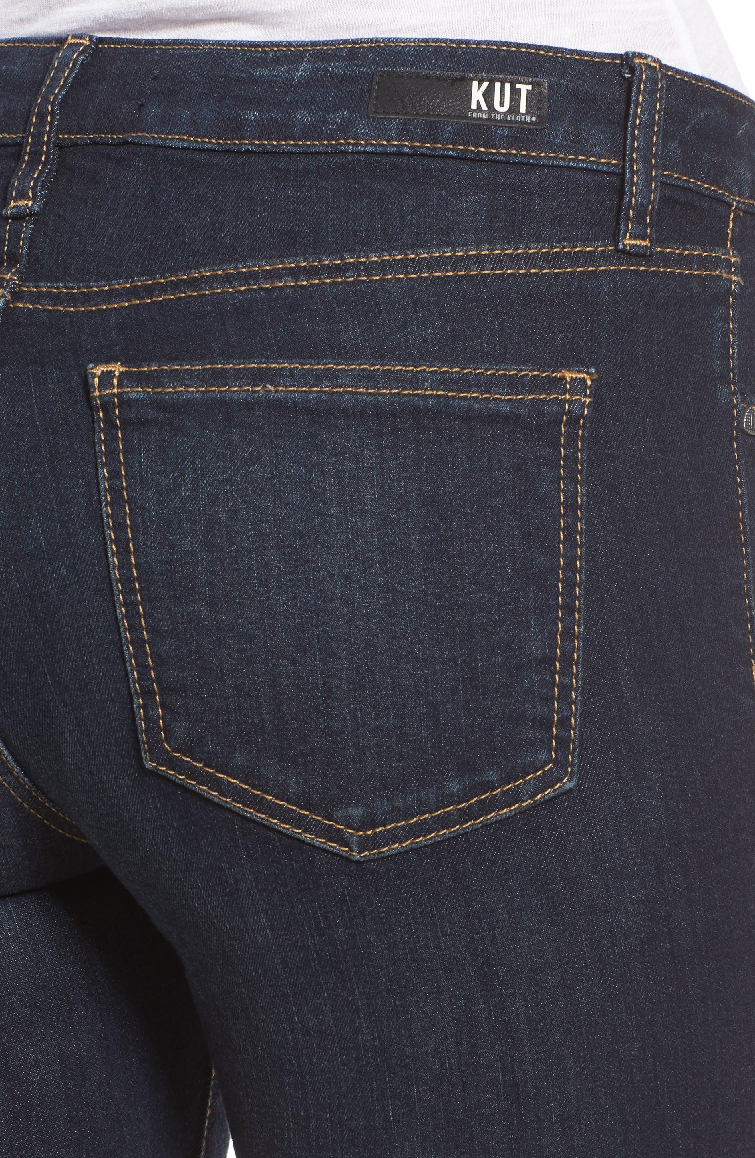 Diana Kurvy Stretch Ankle Jeans,                             Alternate thumbnail 4, color,                             490