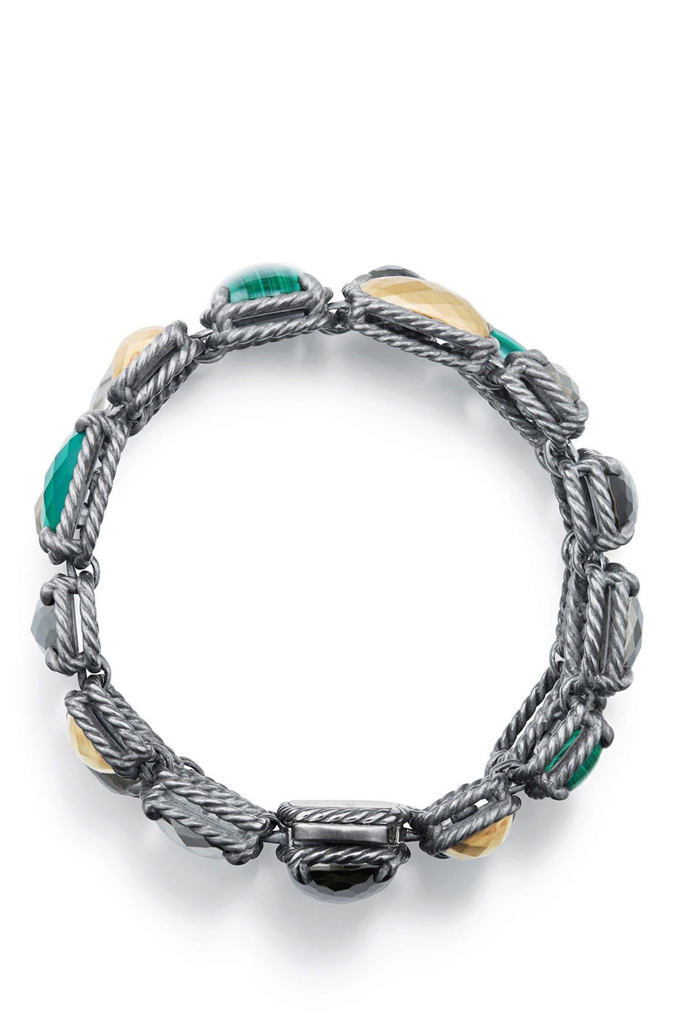 Chatelaine Mosaic Bracelet with 18K Gold,                             Alternate thumbnail 2, color,                             LEMON CITRINE/ HEMATINE