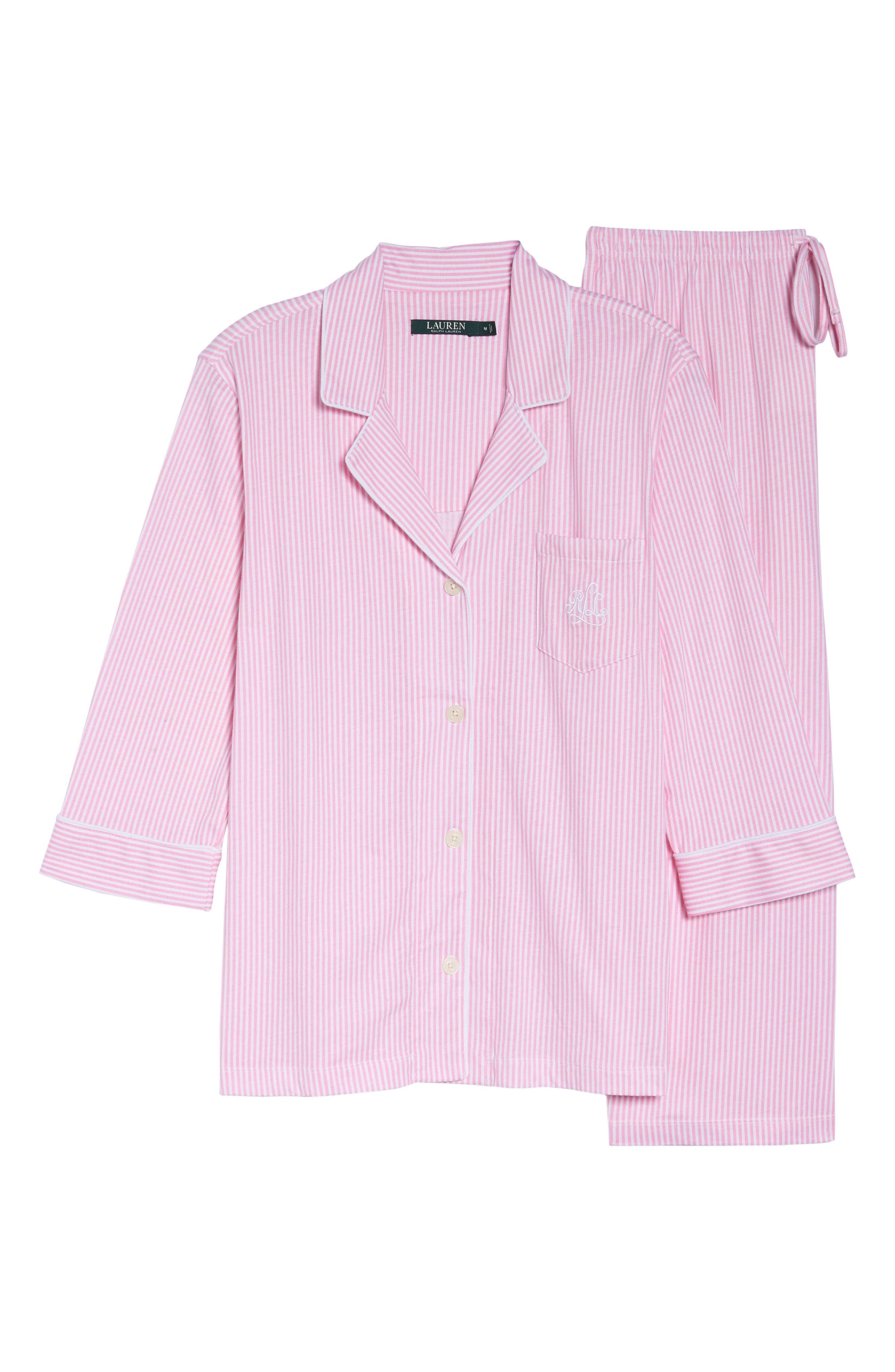 Knit Crop Pajamas,                             Alternate thumbnail 33, color,