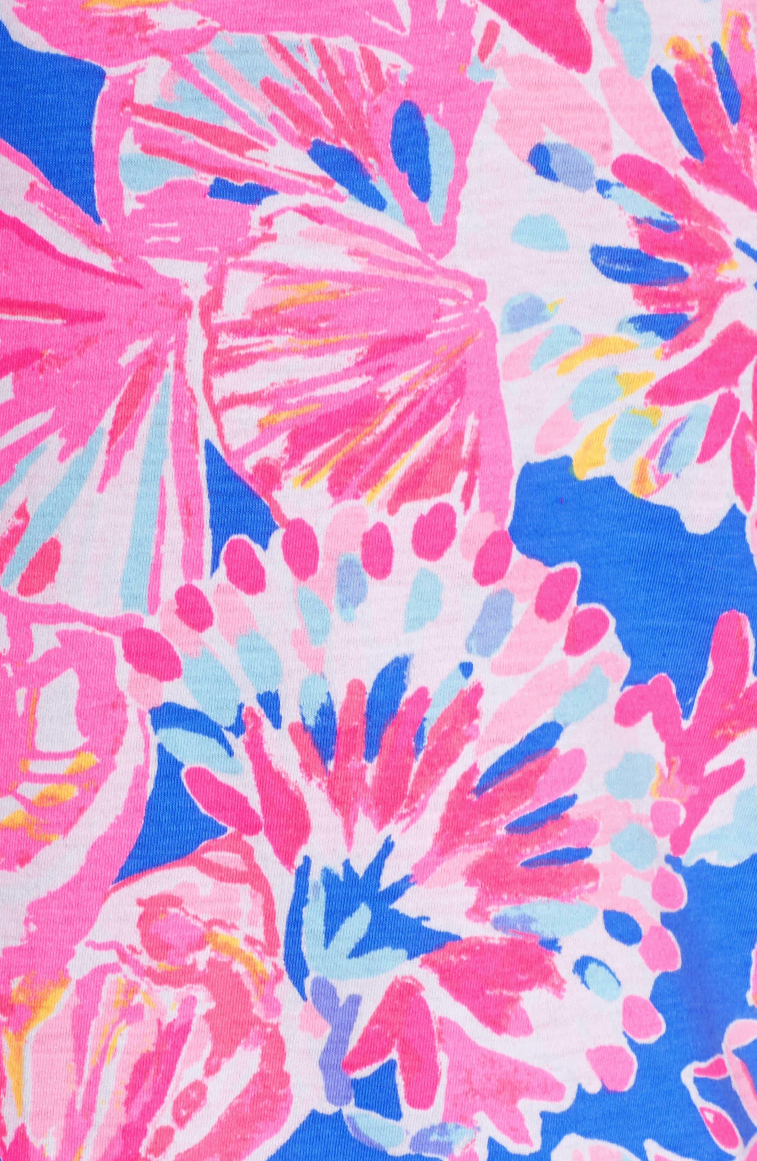 Noelle Floral Shift Dress,                             Alternate thumbnail 6, color,                             650