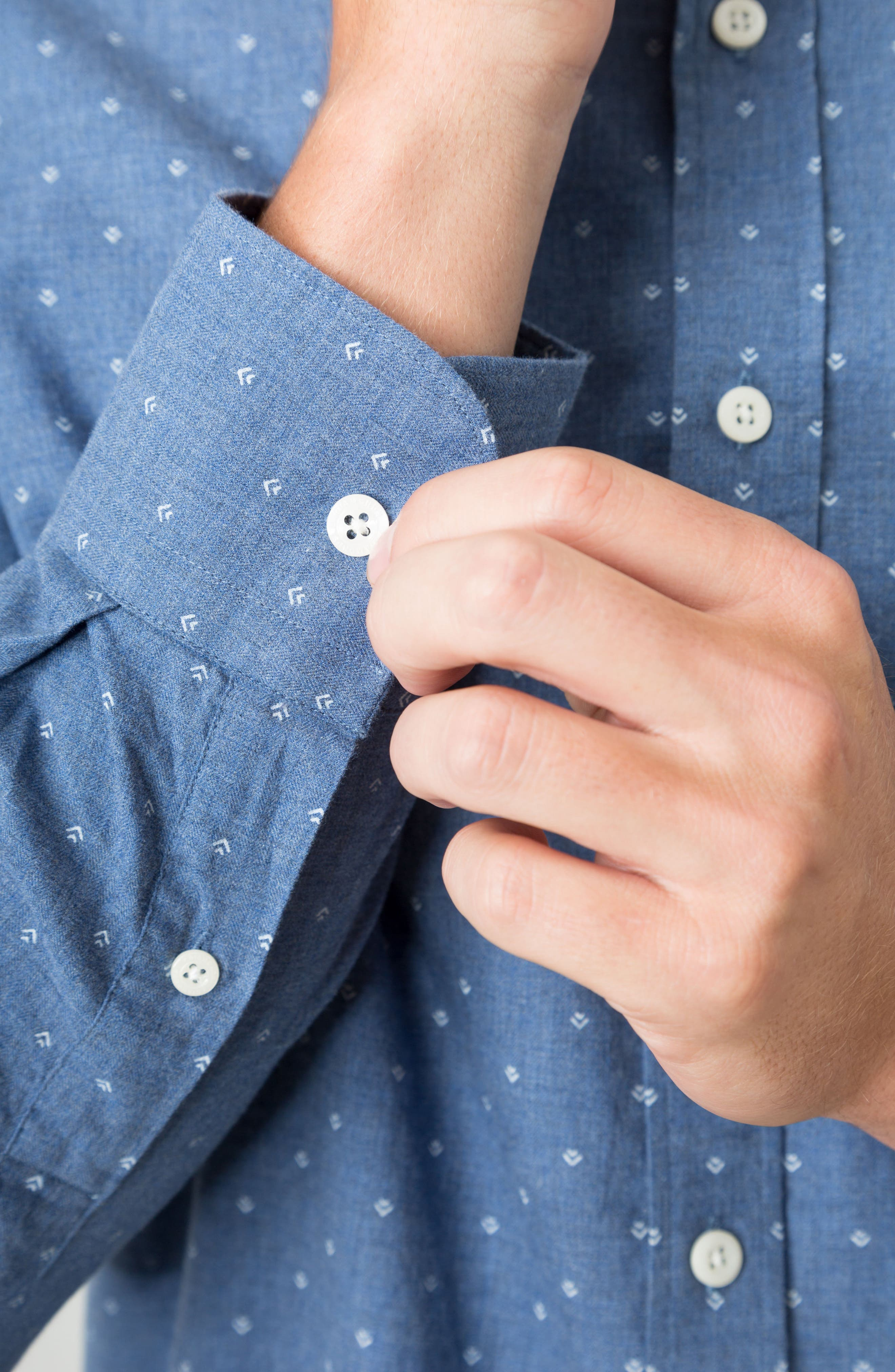 Madison Blues Woven Shirt,                             Alternate thumbnail 4, color,                             410
