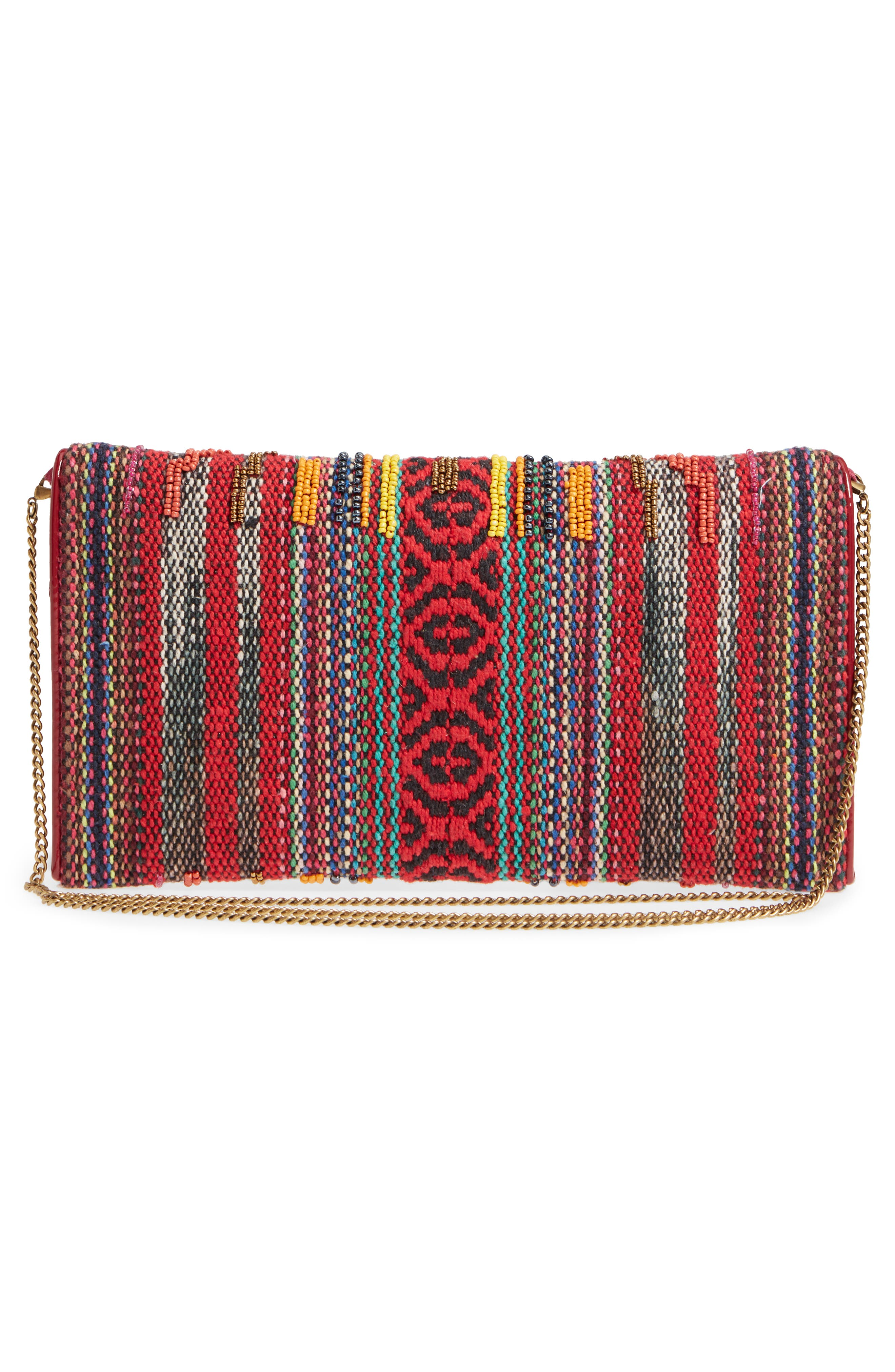 Envelope Printed Fabric Clutch,                             Alternate thumbnail 3, color,                             600