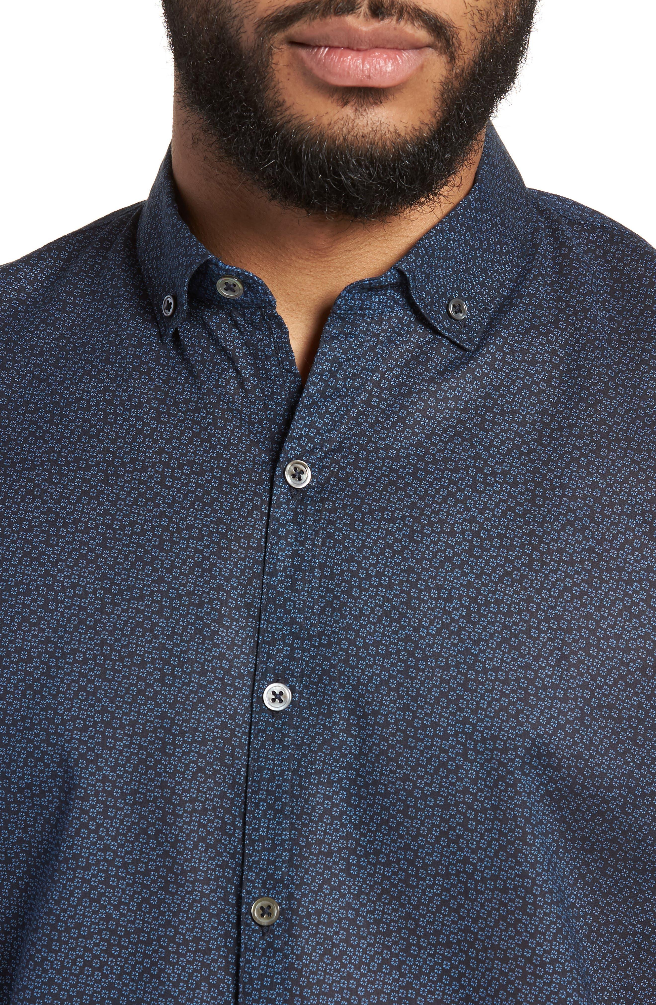Clyde Slim Fit Sport Shirt,                             Alternate thumbnail 4, color,                             410