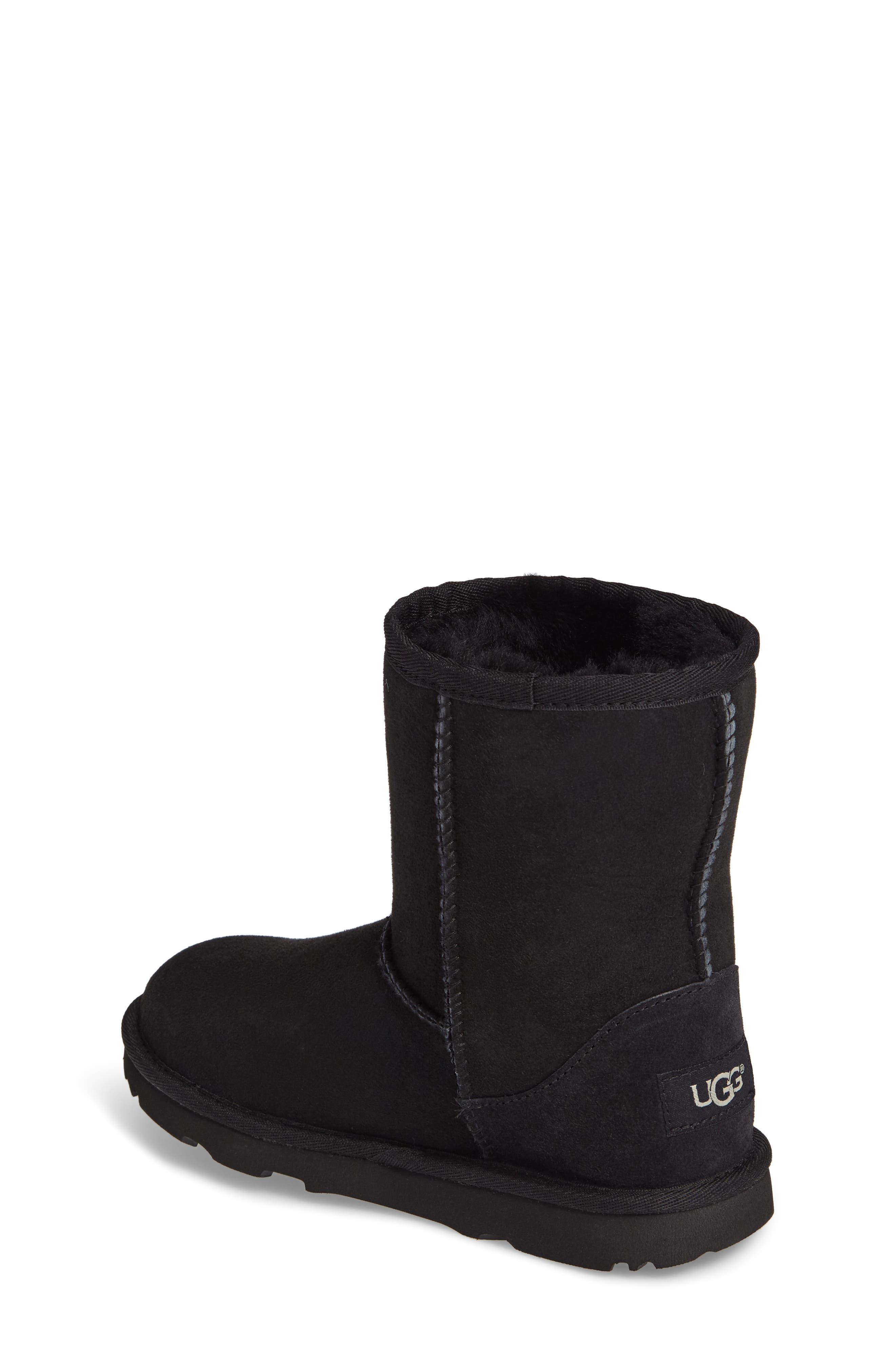 Classic Short II Water Resistant Genuine Shearling Boot,                             Alternate thumbnail 2, color,                             BLACK