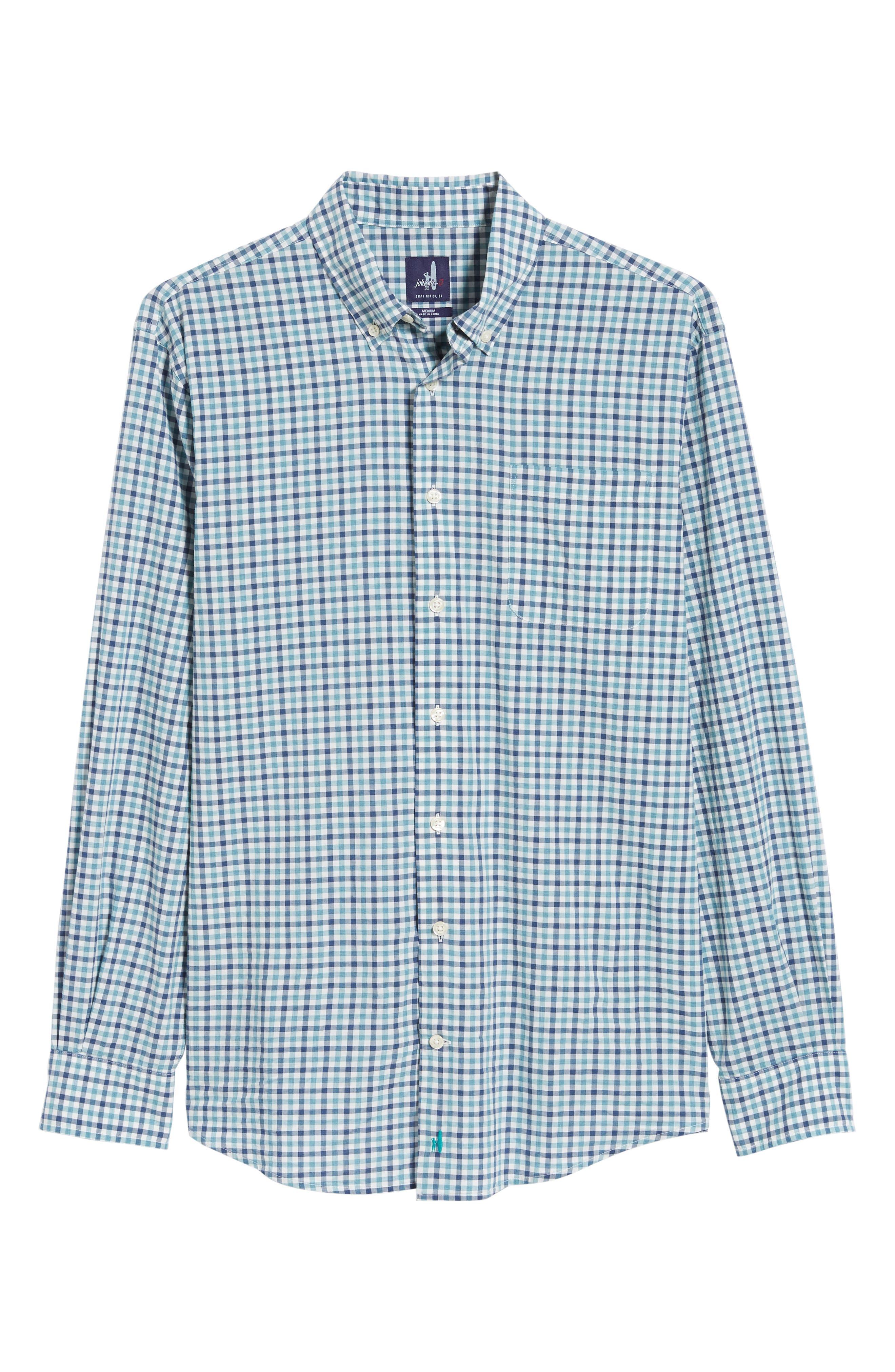 Finley Classic Fit Sport Shirt,                             Alternate thumbnail 5, color,                             JADE