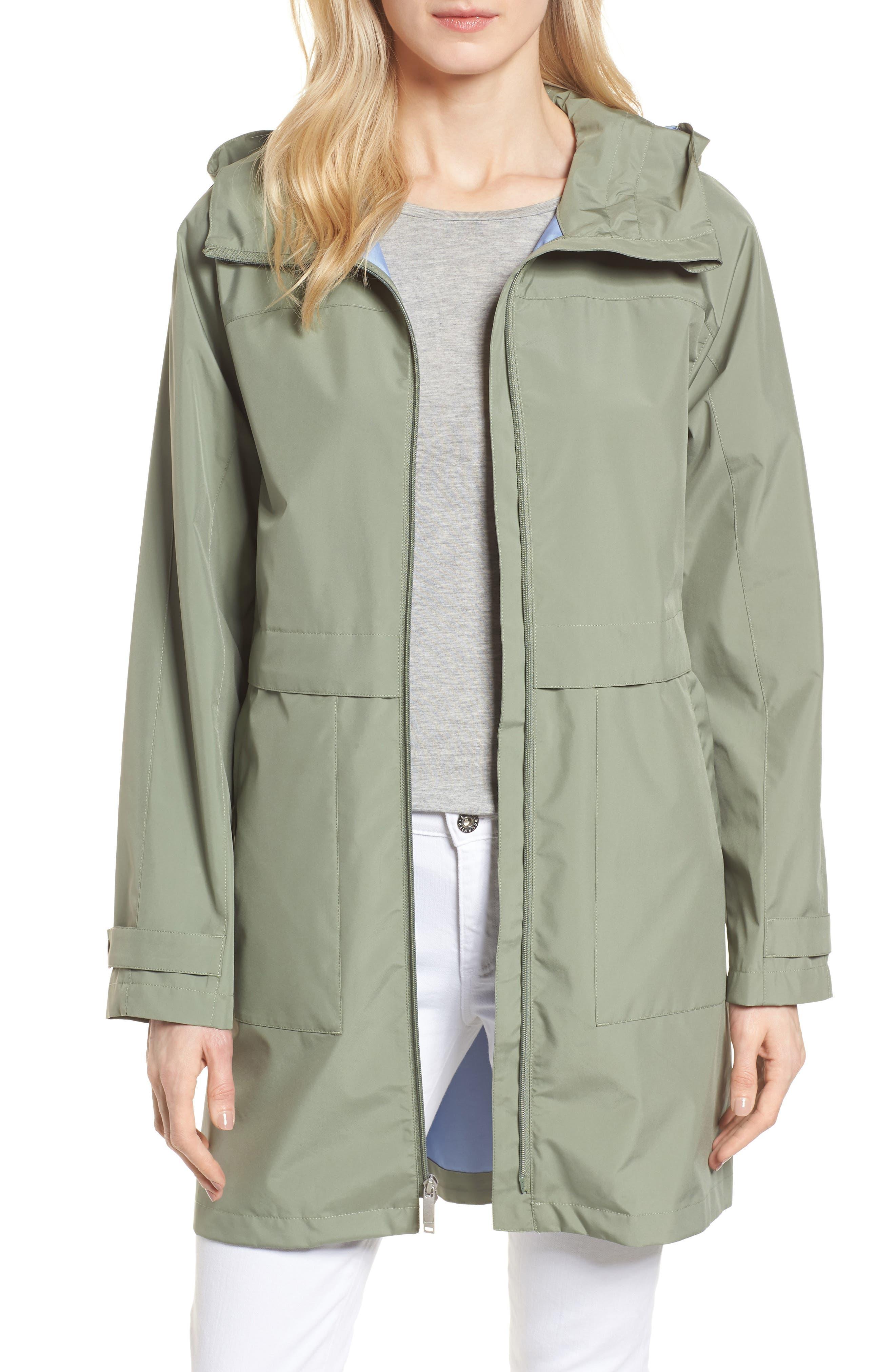 Pearl Cloth Hooded Jacket,                             Main thumbnail 2, color,