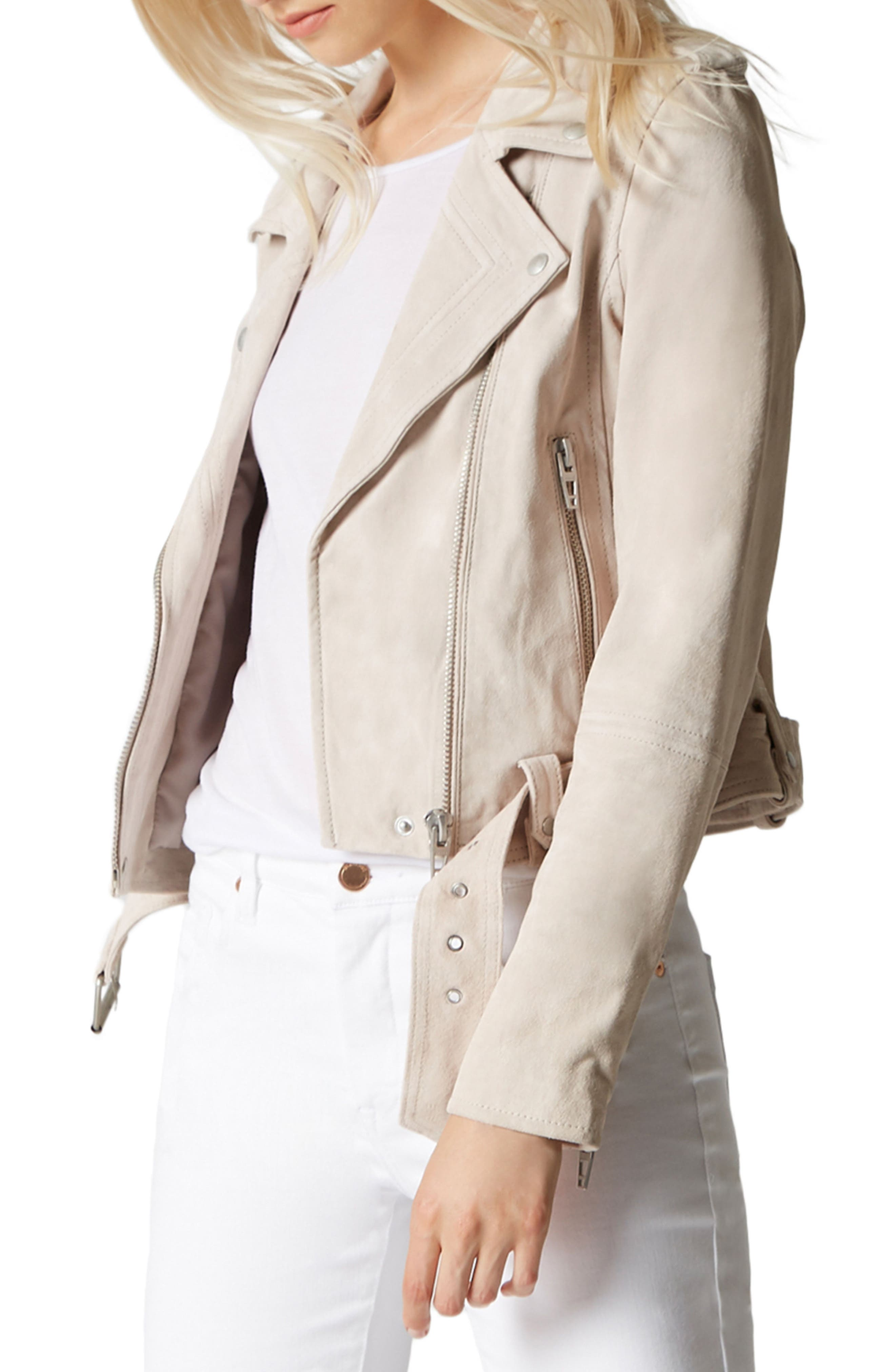 BLANKNYC Suede Moto Jacket, Main, color, 020