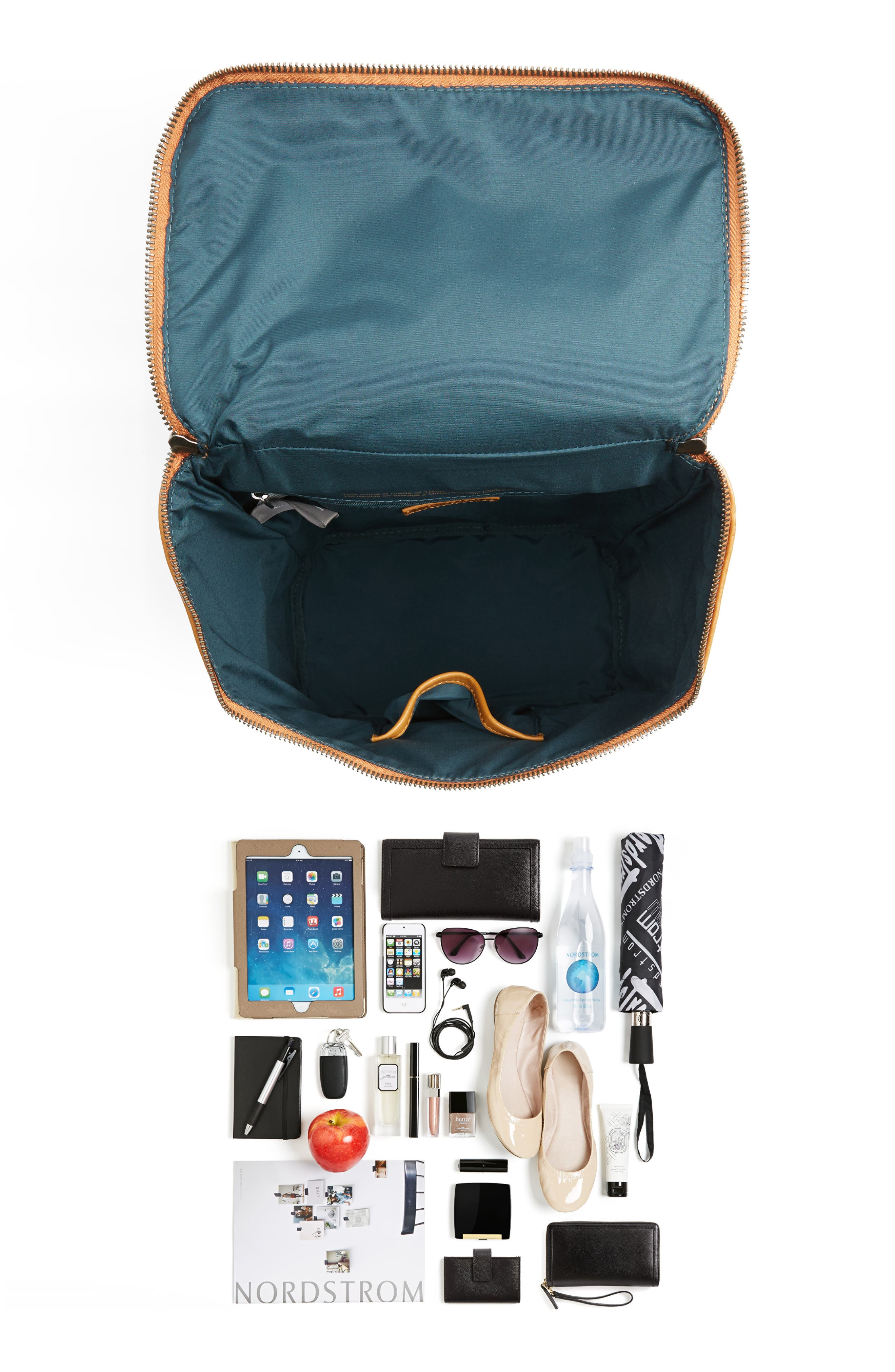 'Brave' Faux Leather Backpack,                             Alternate thumbnail 60, color,