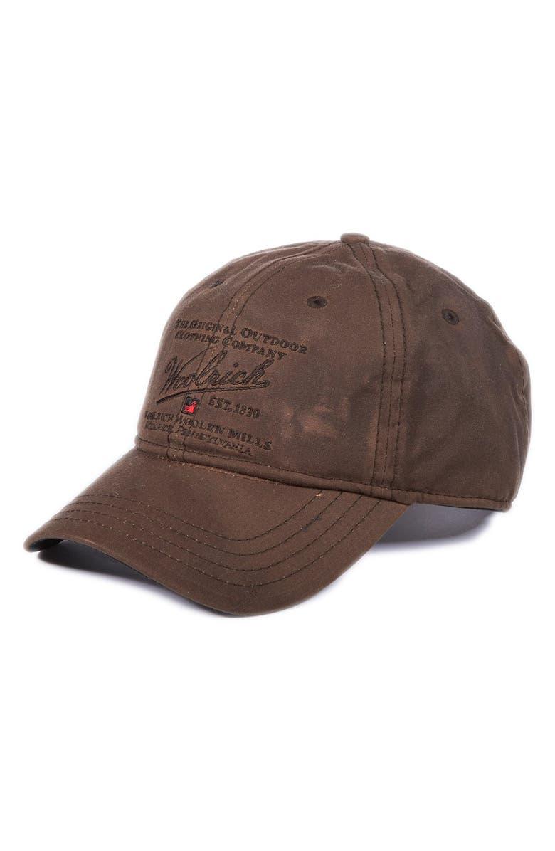 Woolrich Oil Cloth Baseball Cap  c82aeb81596
