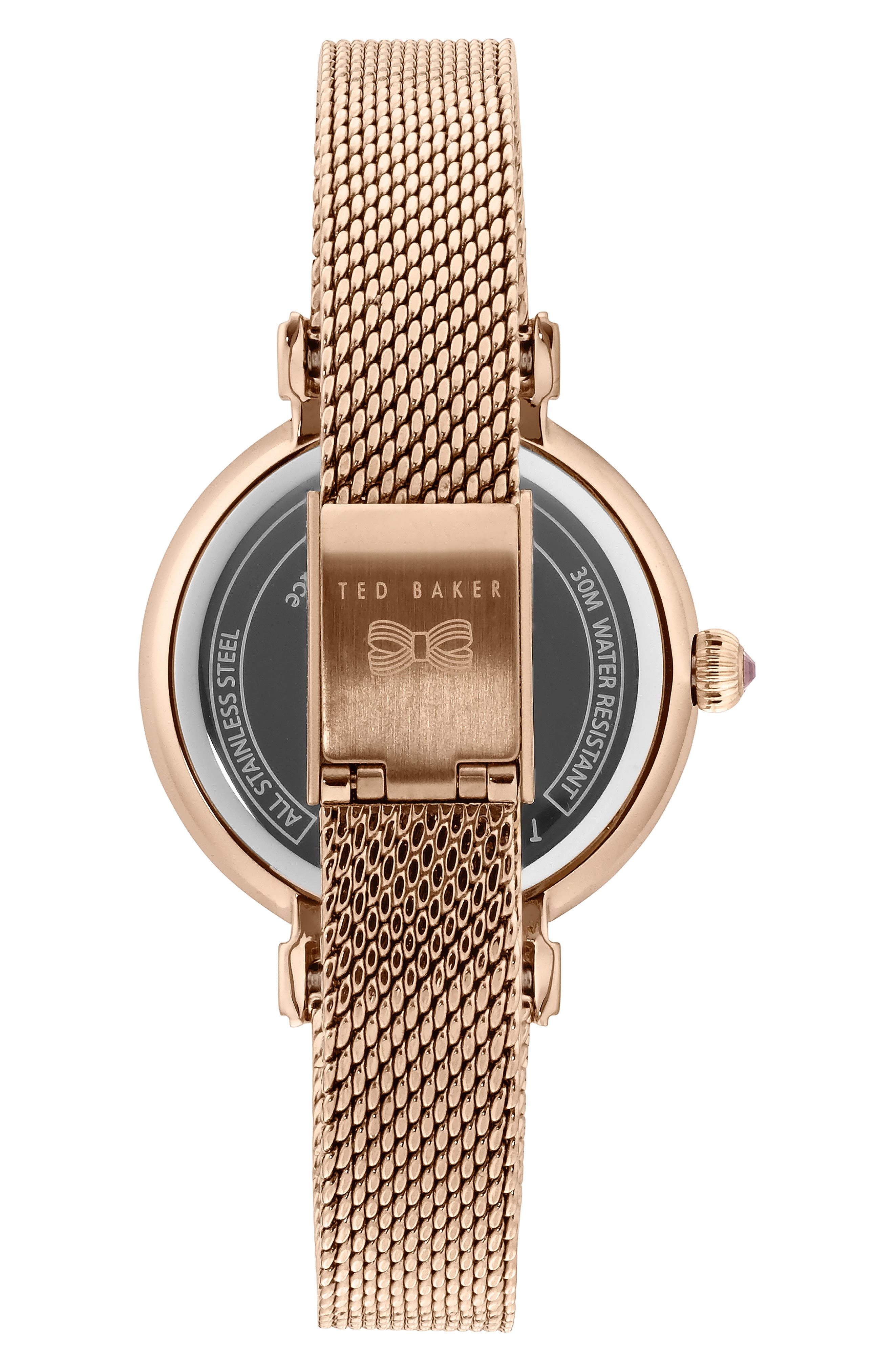 Jessica Mesh Strap Watch, 30mm,                             Alternate thumbnail 2, color,                             ROSE GOLD/ MOP/ ROSE GOLD