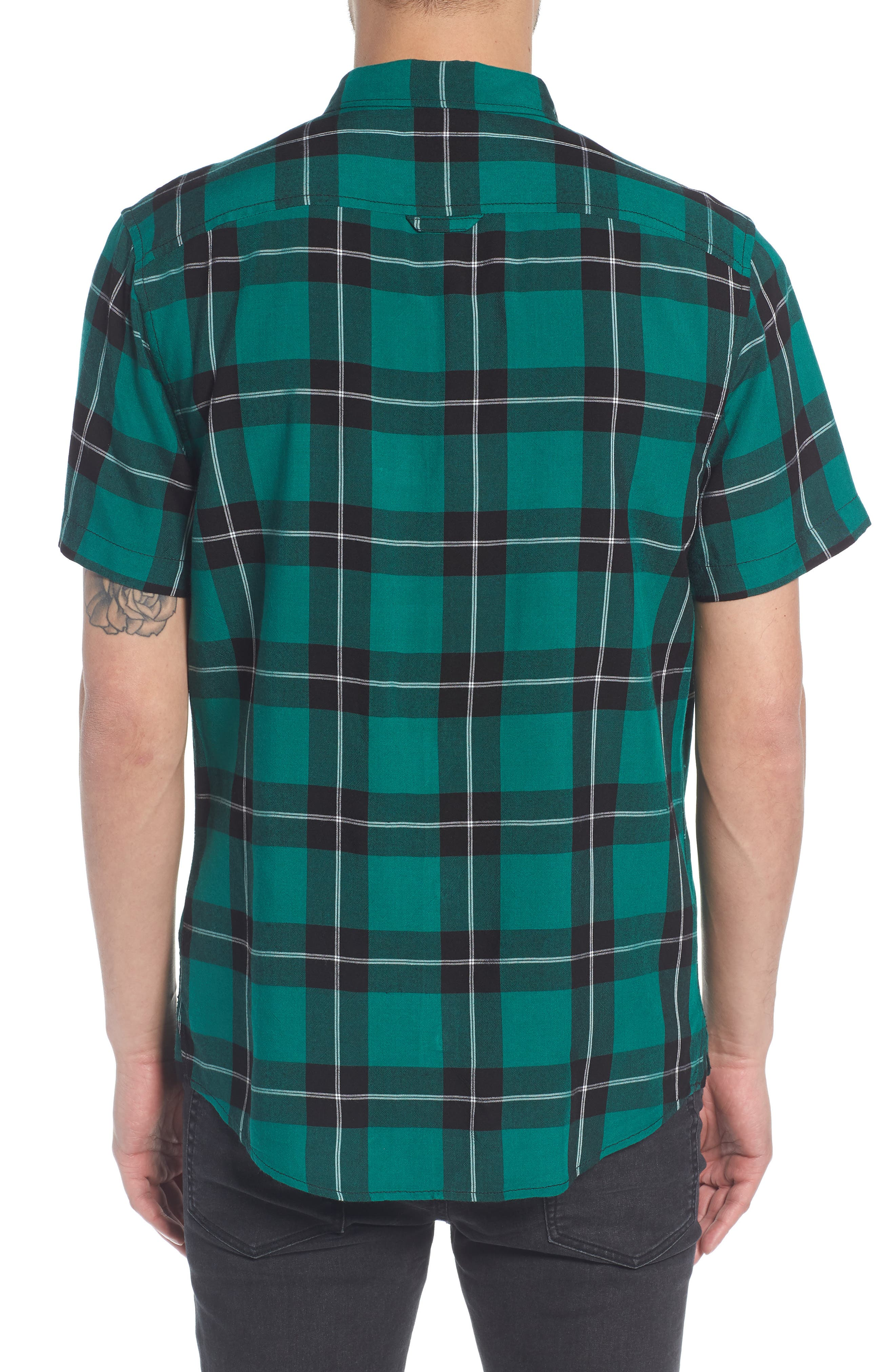 Yarn Dyed Plaid Shirt,                             Alternate thumbnail 2, color,                             001