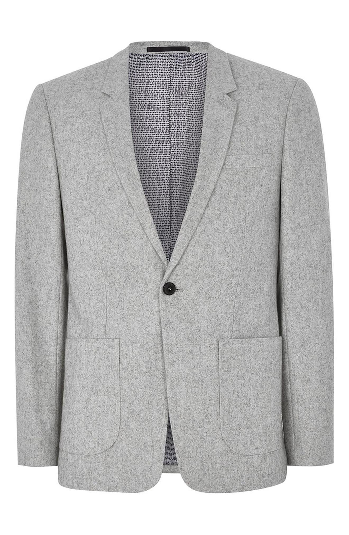 Murdoch One-Button Jacket,                             Alternate thumbnail 4, color,                             LIGHT GREY