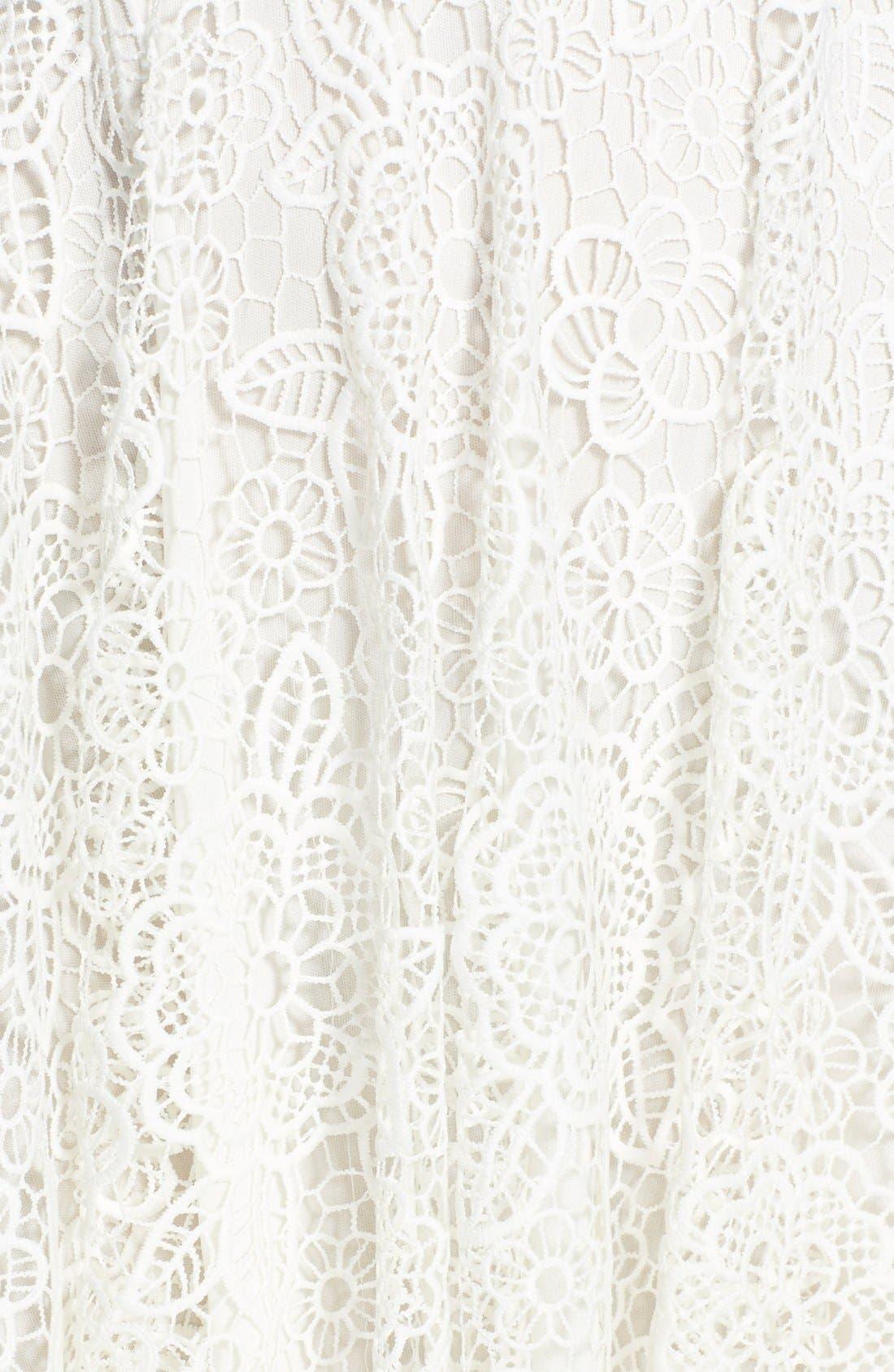 EVA FRANCO,                             'Mira' Lace & Crepe Popover Dress,                             Alternate thumbnail 2, color,                             100