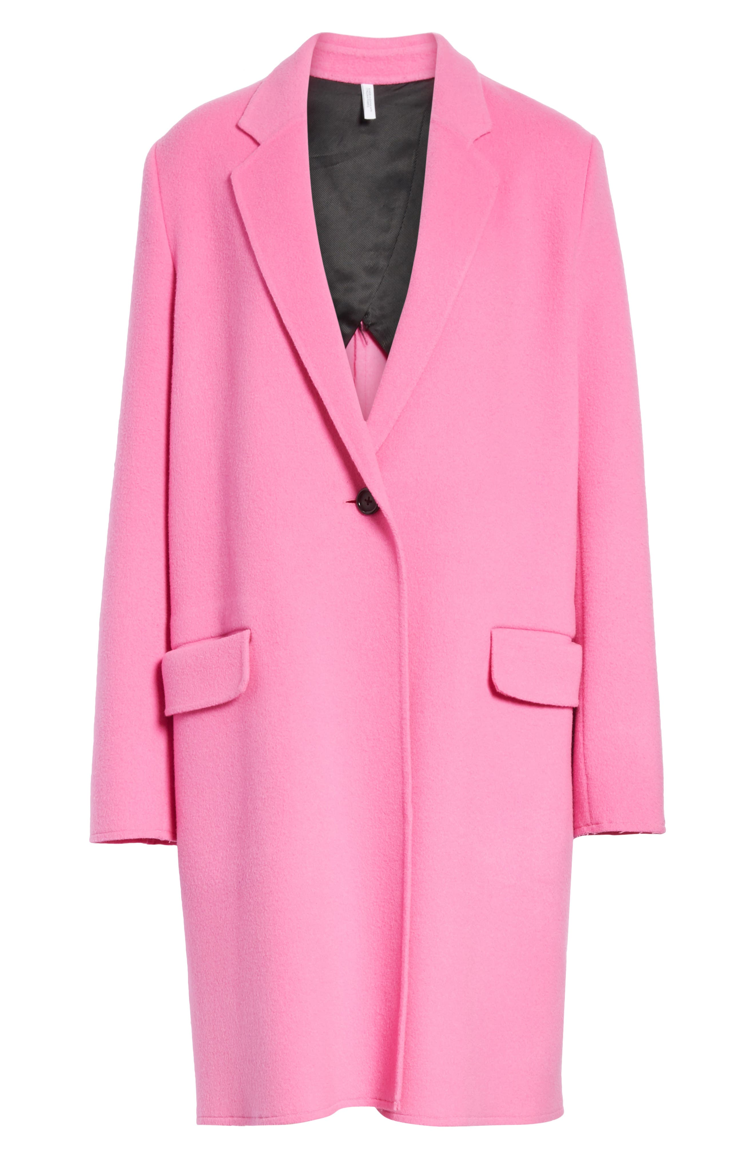 Double Face Wool & Cashmere Coat,                             Alternate thumbnail 5, color,                             694