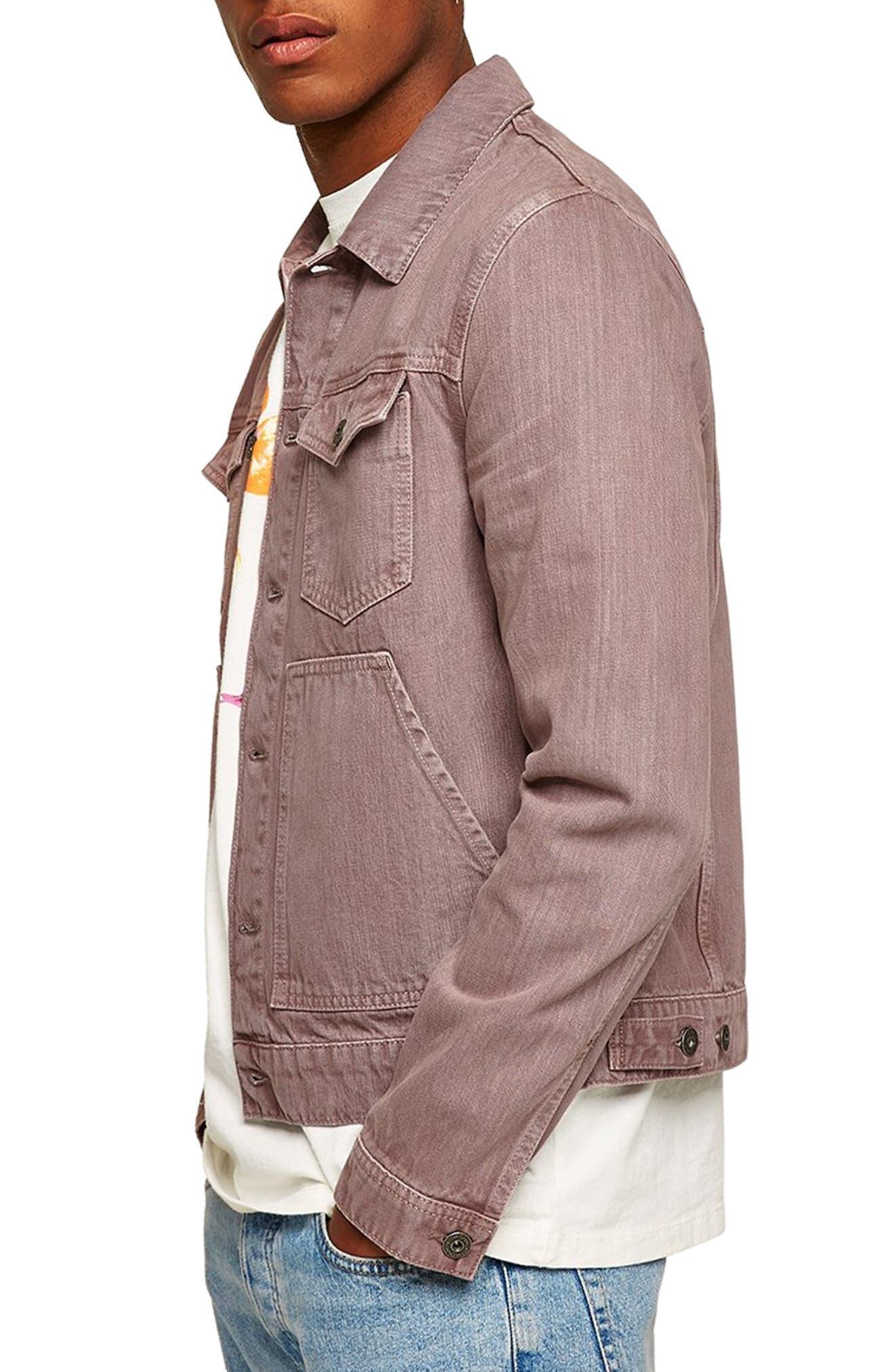 Eamon Denim Jacket,                         Main,                         color, PINK