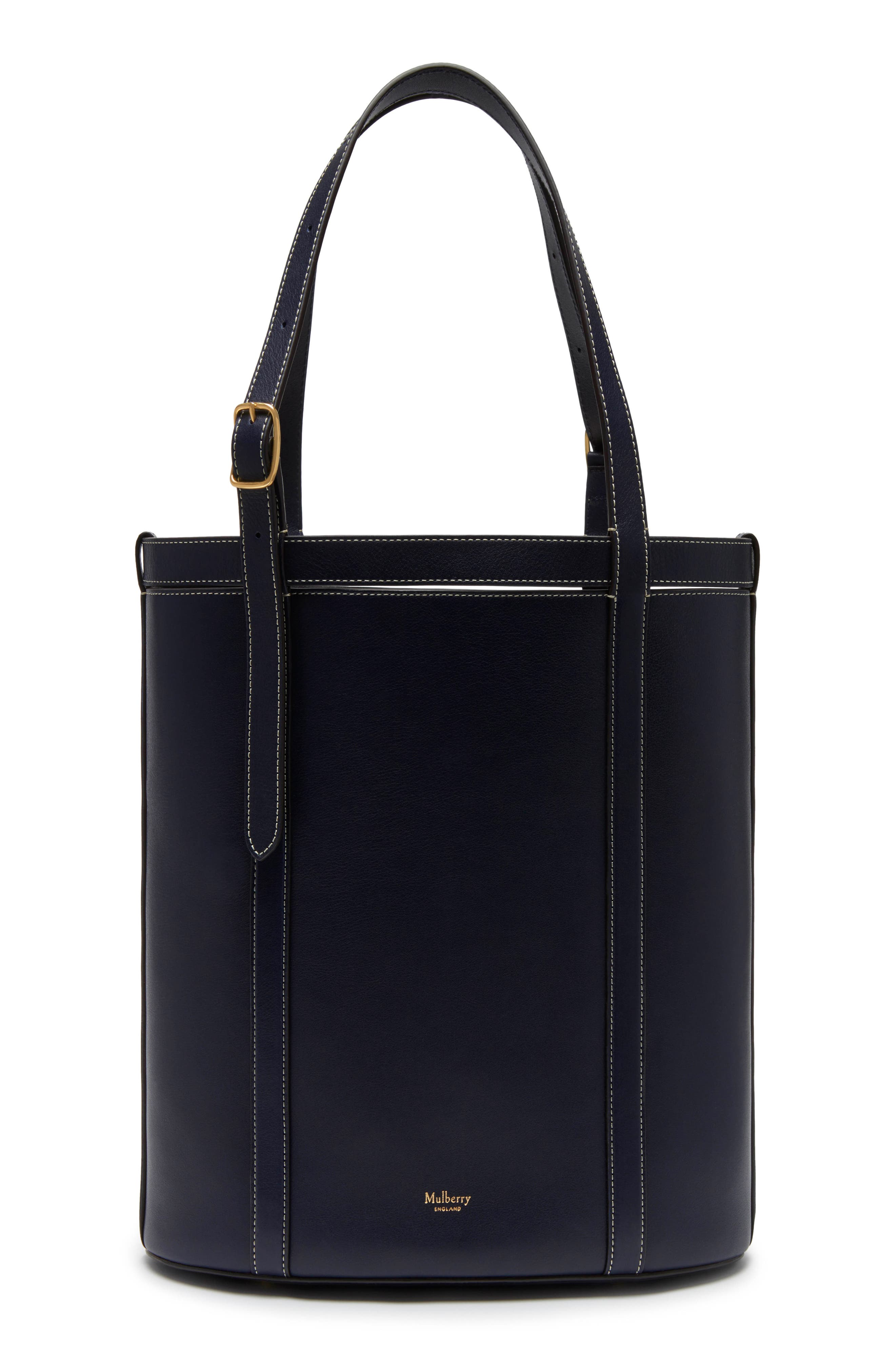 MULBERRY Small Wilton Leather Bucket Bag in Midnight