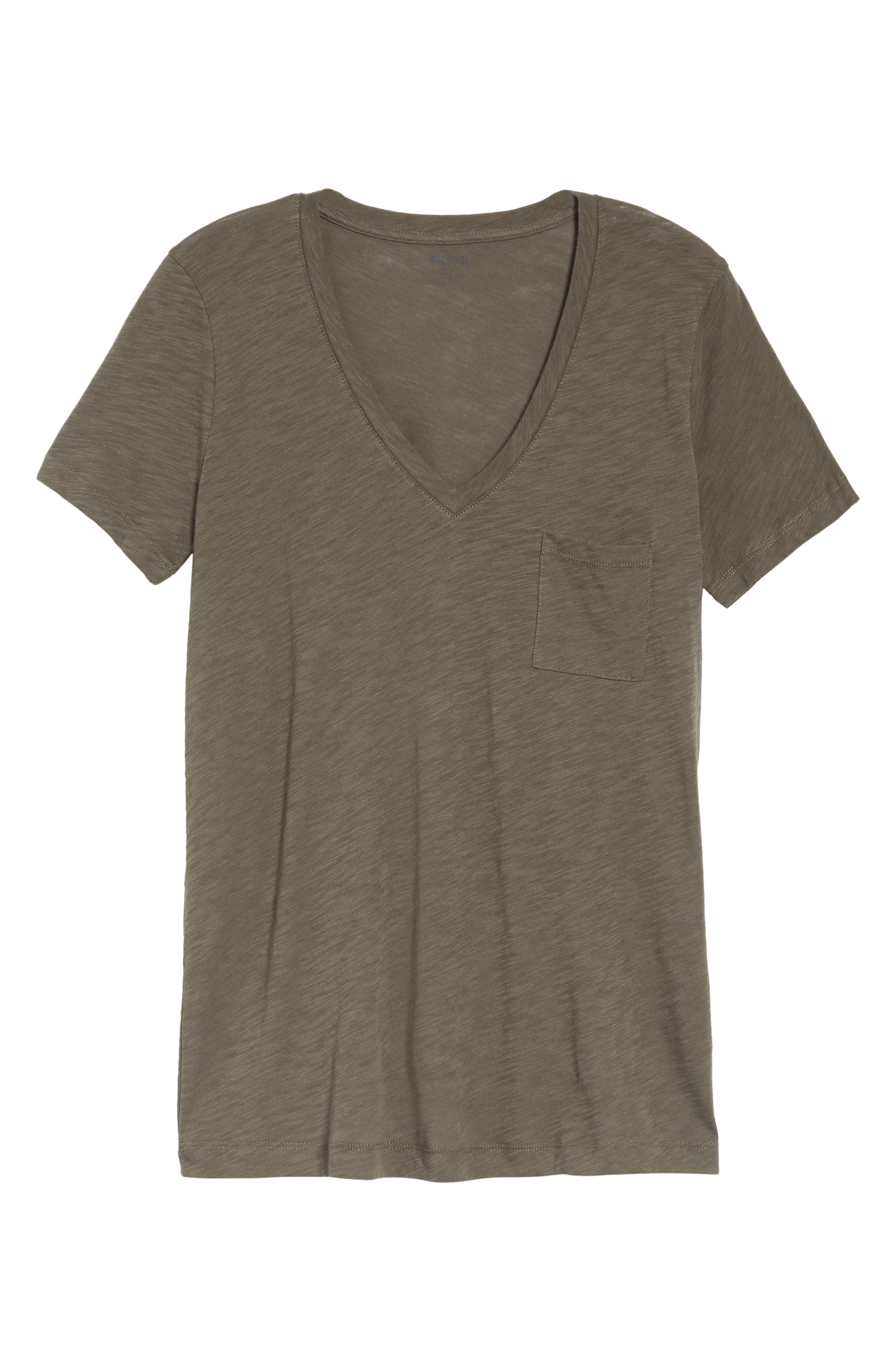 Whisper Cotton V-Neck Pocket Tee,                             Alternate thumbnail 209, color,