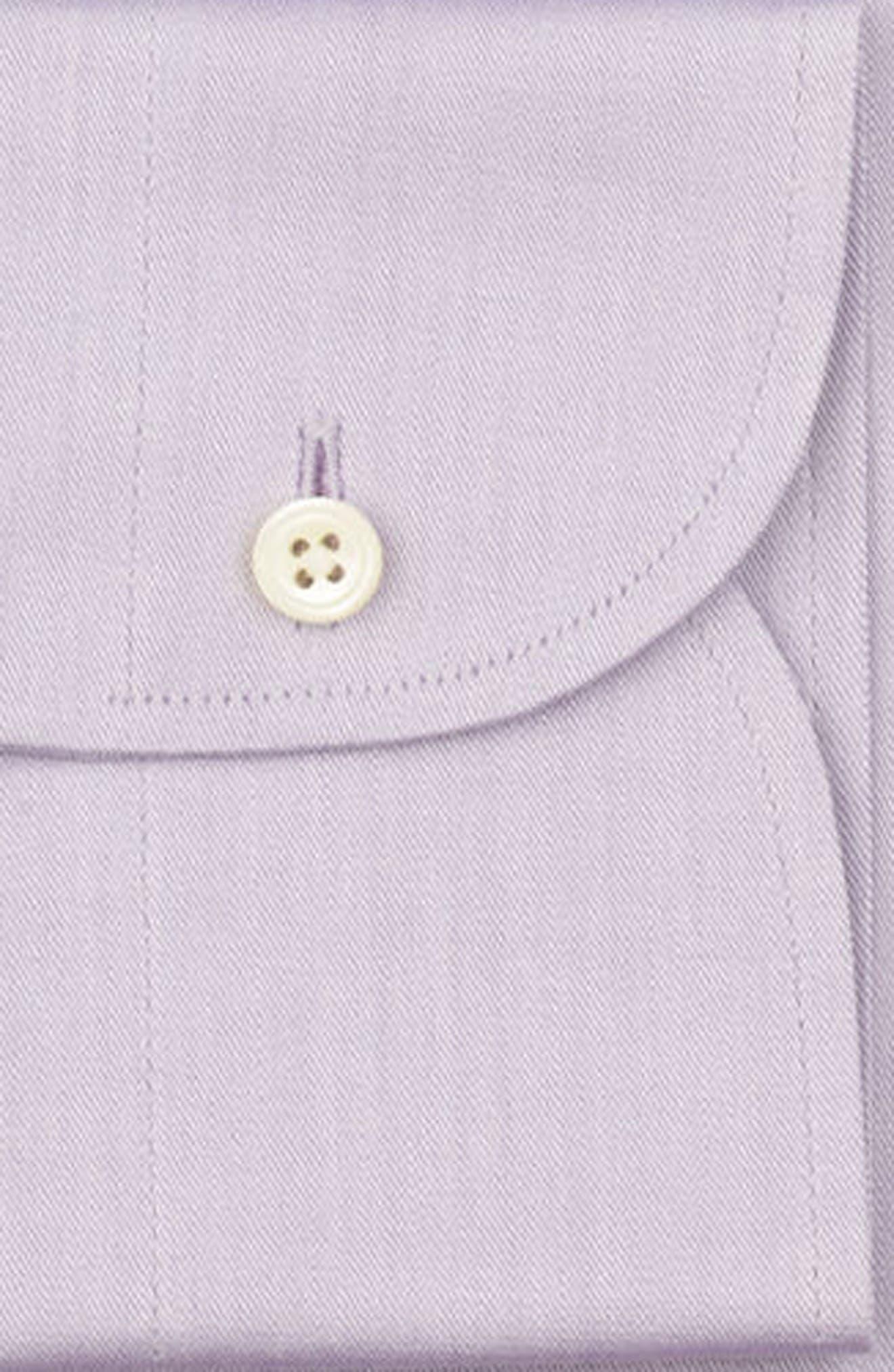 Regular Fit Solid Dress Shirt,                             Alternate thumbnail 6, color,                             PURPLE