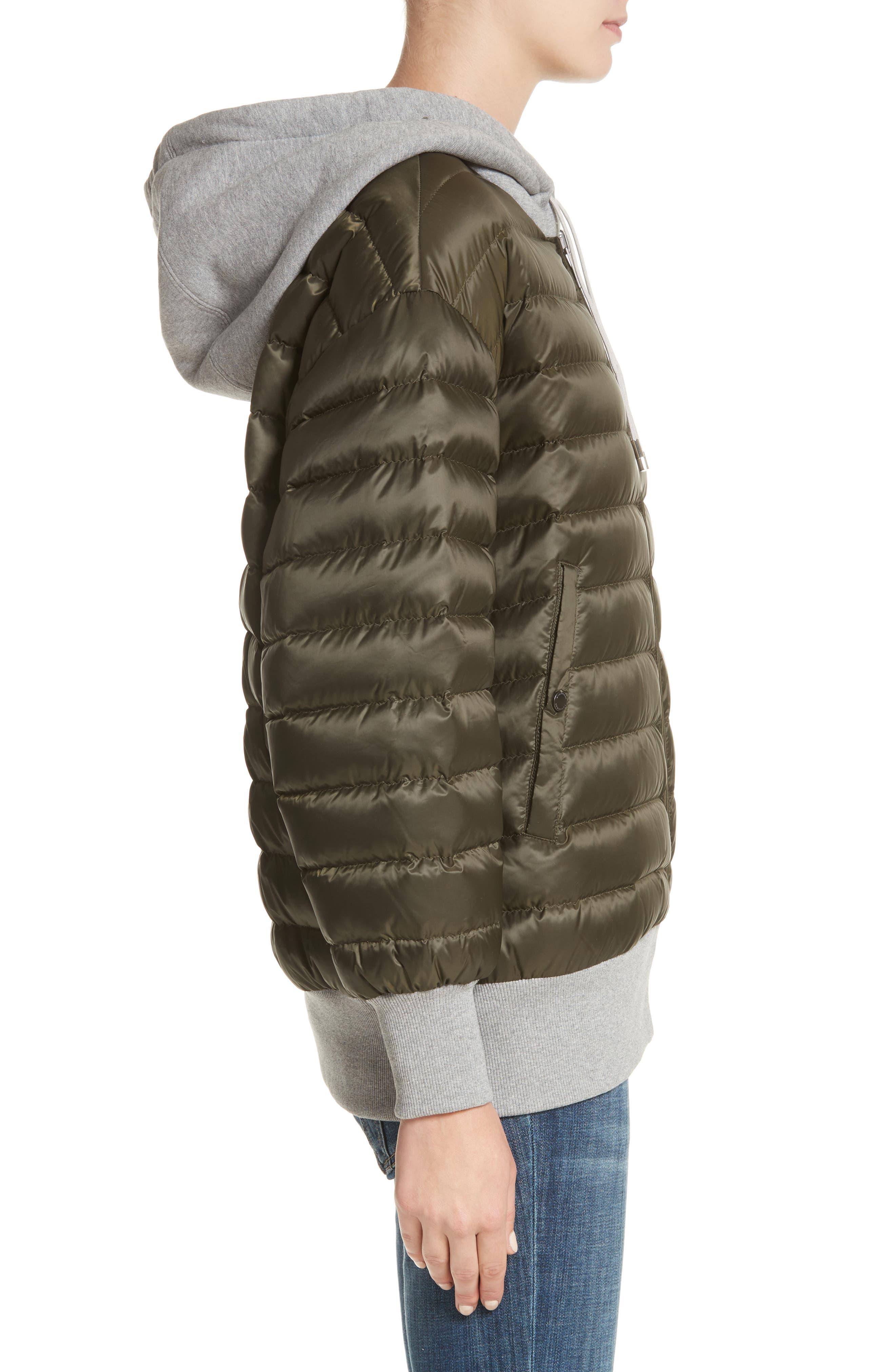 Langleigh Reversible Down Hooded Bomber Jacket,                             Alternate thumbnail 4, color,