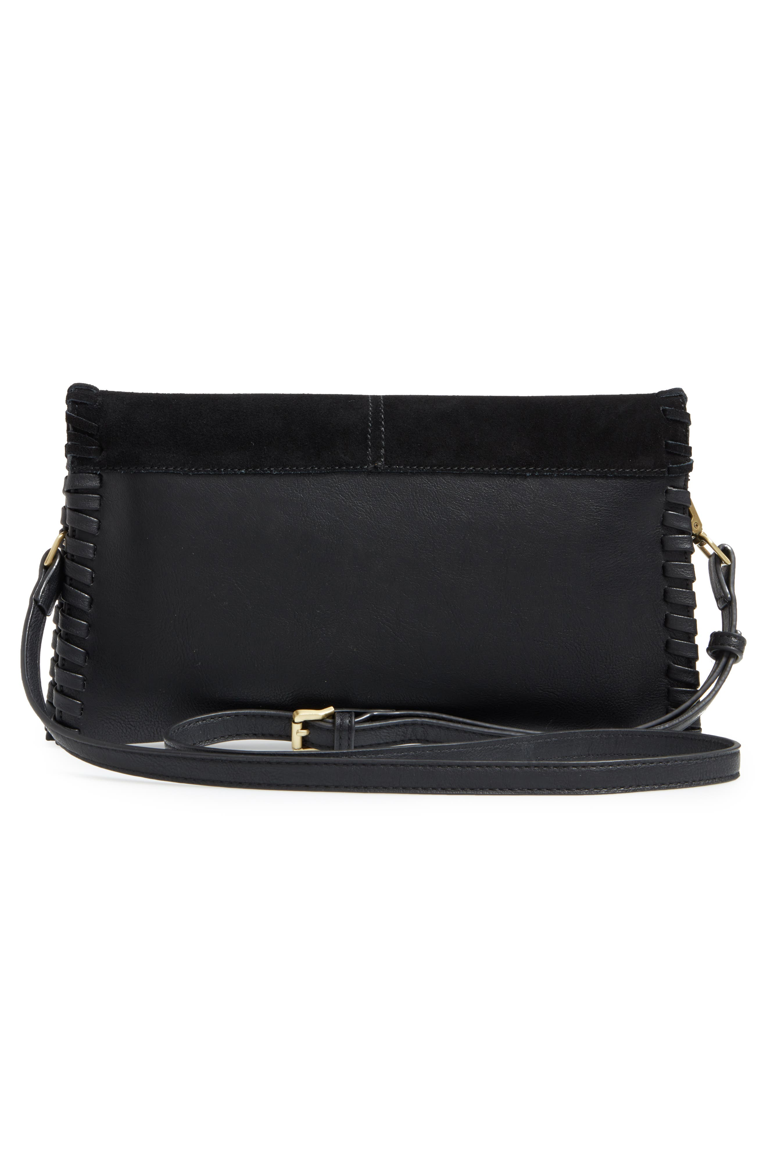 SOLE SOCIETY,                             Waverly Whipstitch Clutch,                             Alternate thumbnail 3, color,                             001