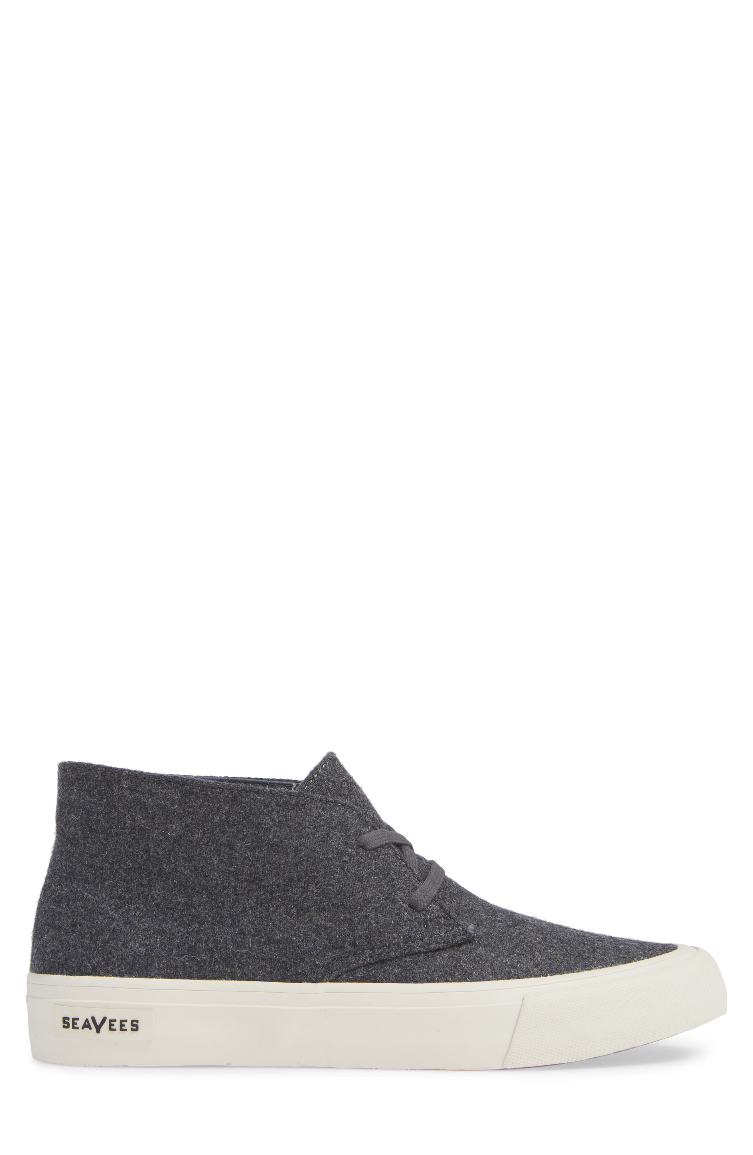 Maslon Chukka Sneaker,                             Alternate thumbnail 3, color,                             CHARCOAL WOOL FLANNEL