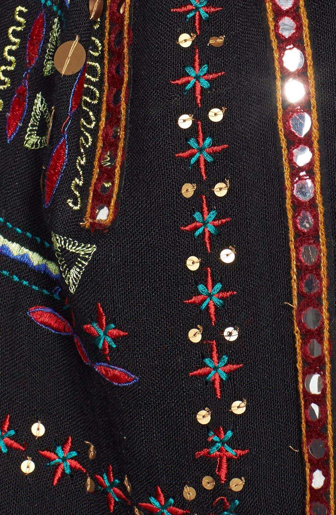 Embellished Scarf,                             Alternate thumbnail 2, color,                             001