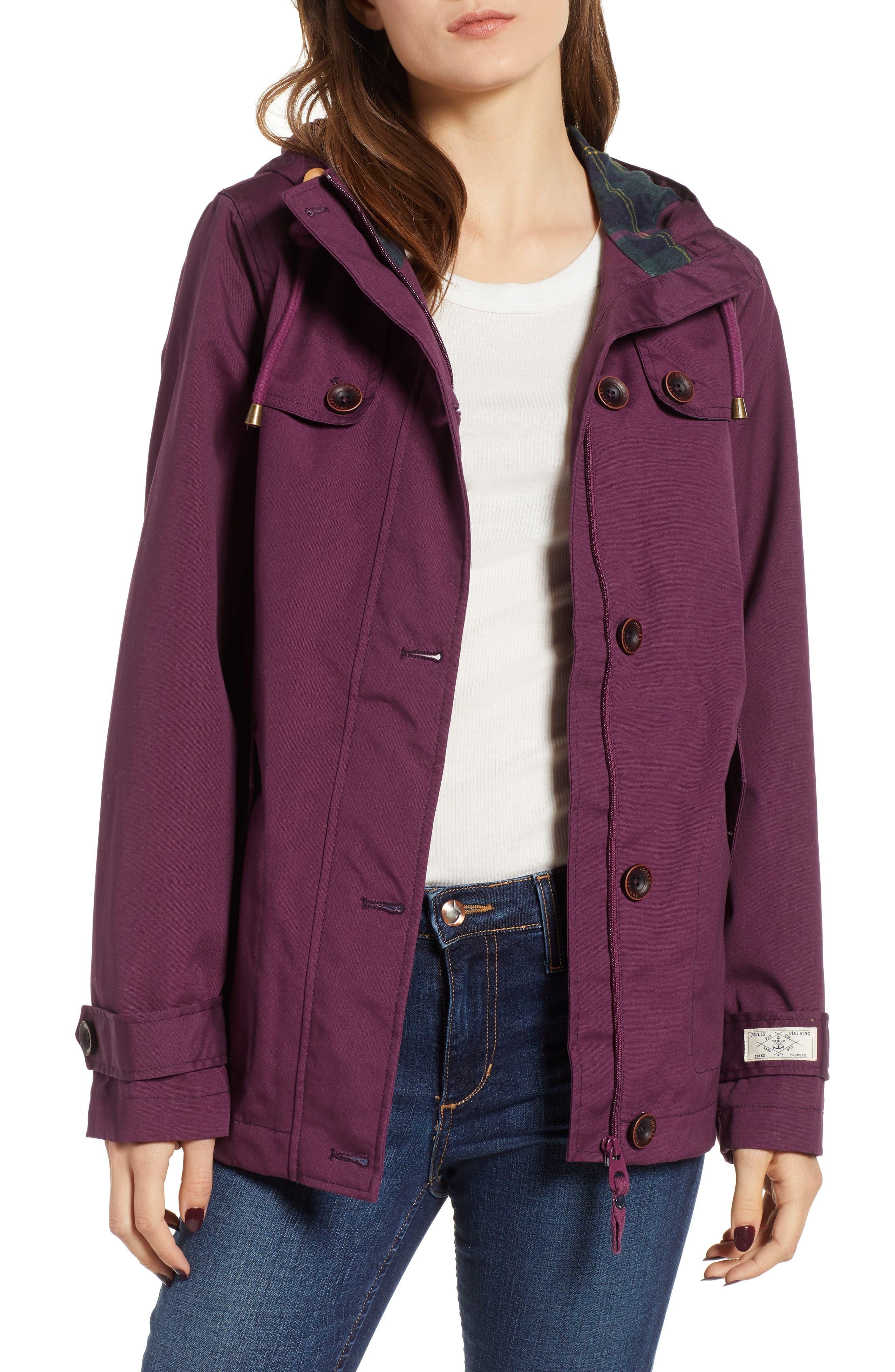JOULES,                             Right as Rain Waterproof Hooded Jacket,                             Main thumbnail 1, color,                             930