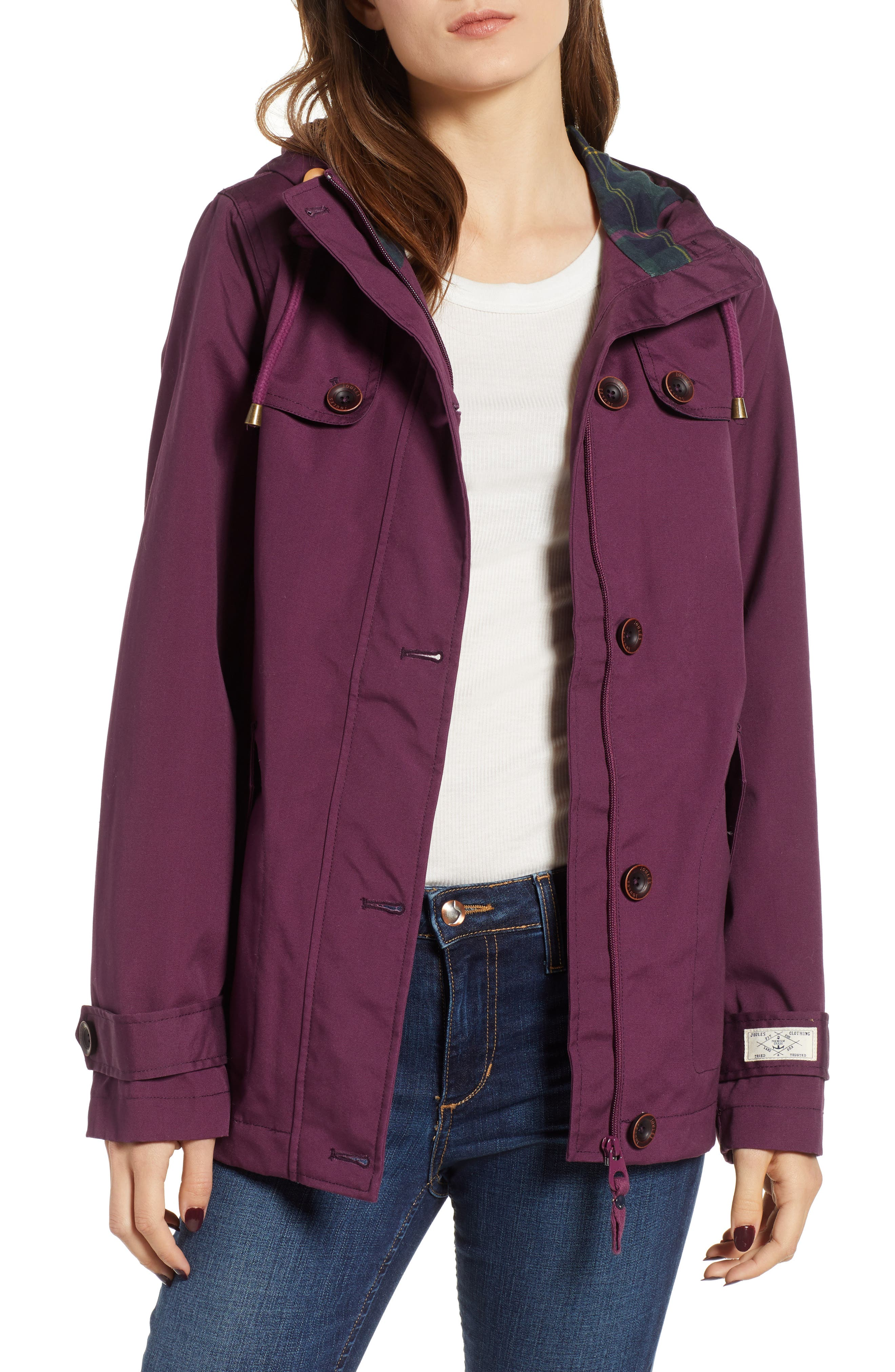 JOULES Right as Rain Waterproof Hooded Jacket, Main, color, 930