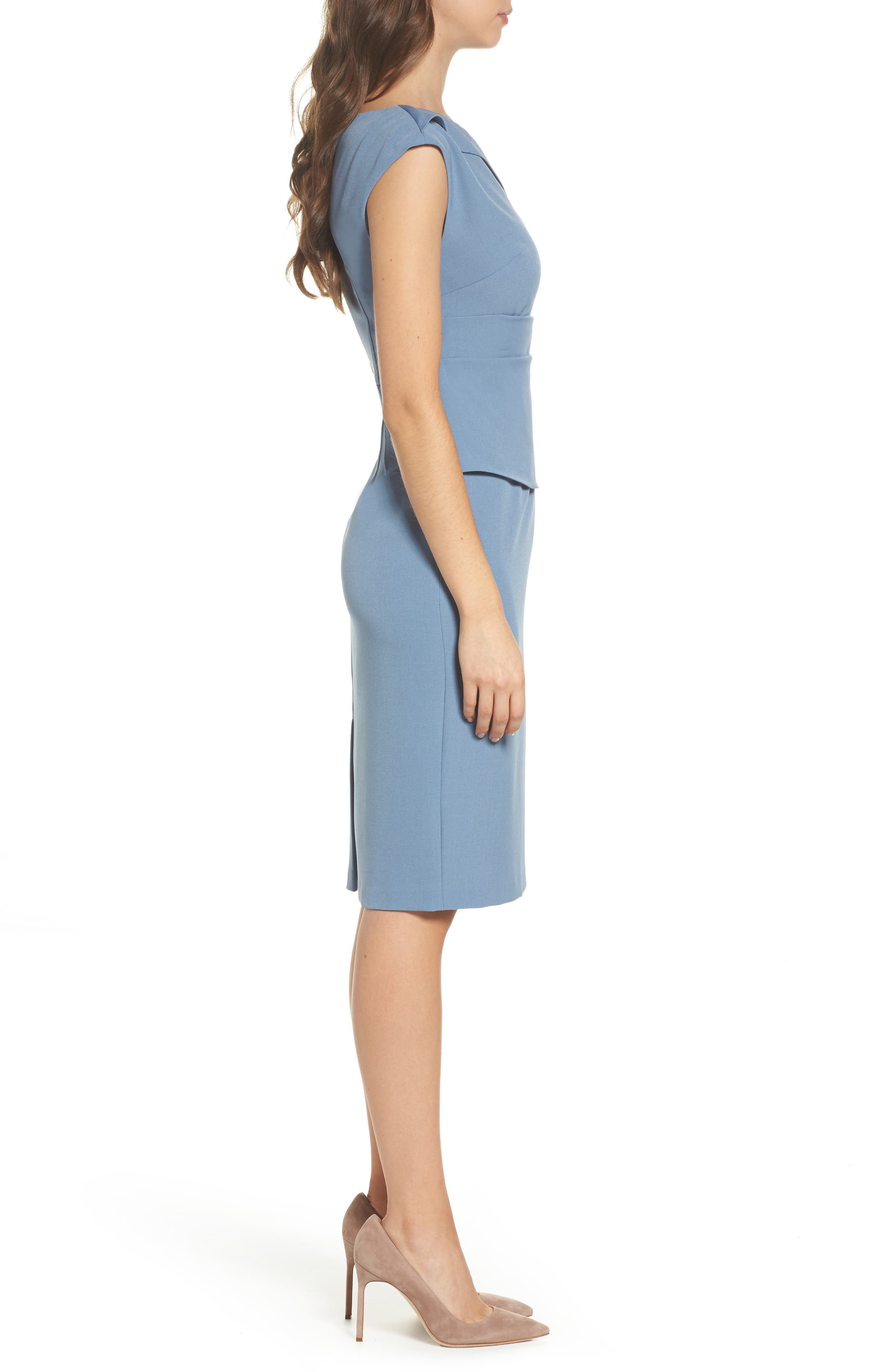Crepe Sheath Dress,                             Alternate thumbnail 6, color,