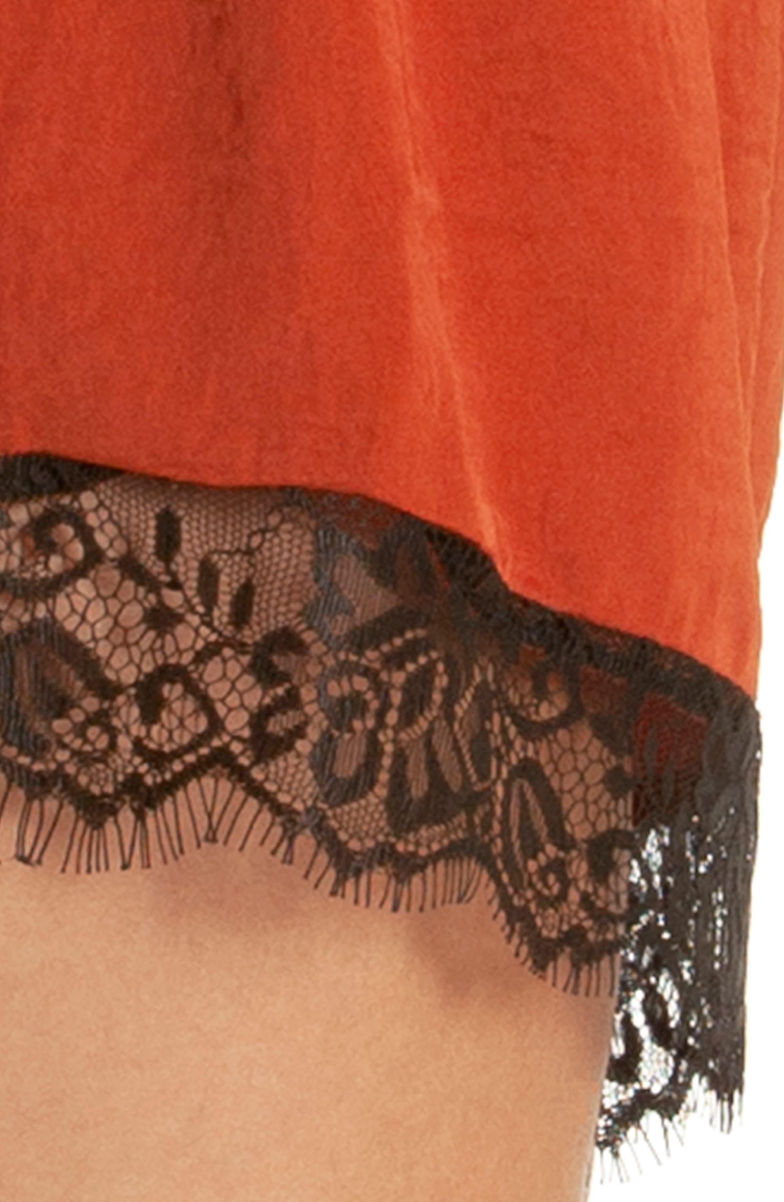 Lace Trim Short Pajamas,                             Alternate thumbnail 4, color,                             220