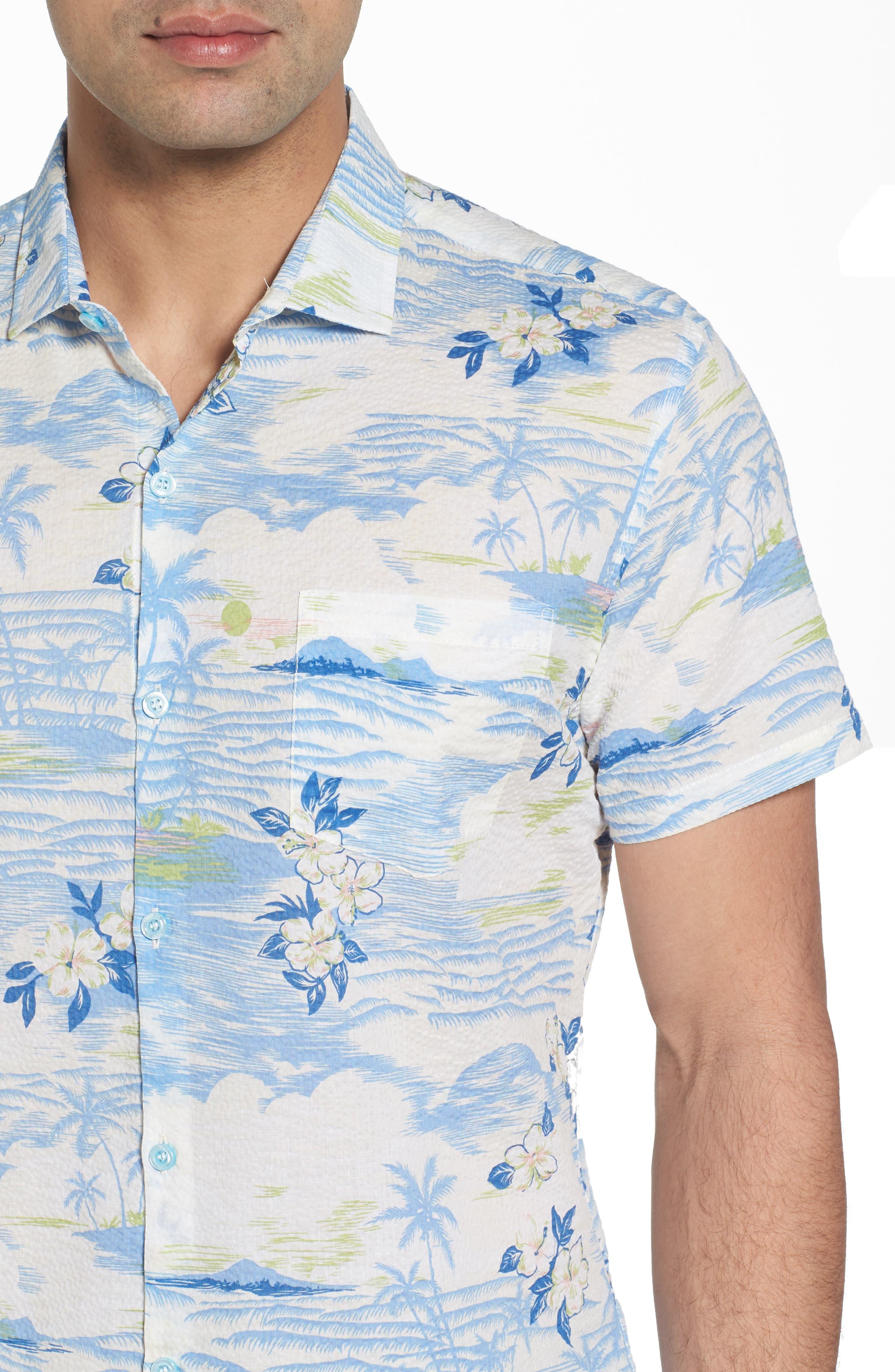 Tropic Dream Lawn Sport Shirt,                             Alternate thumbnail 4, color,                             409
