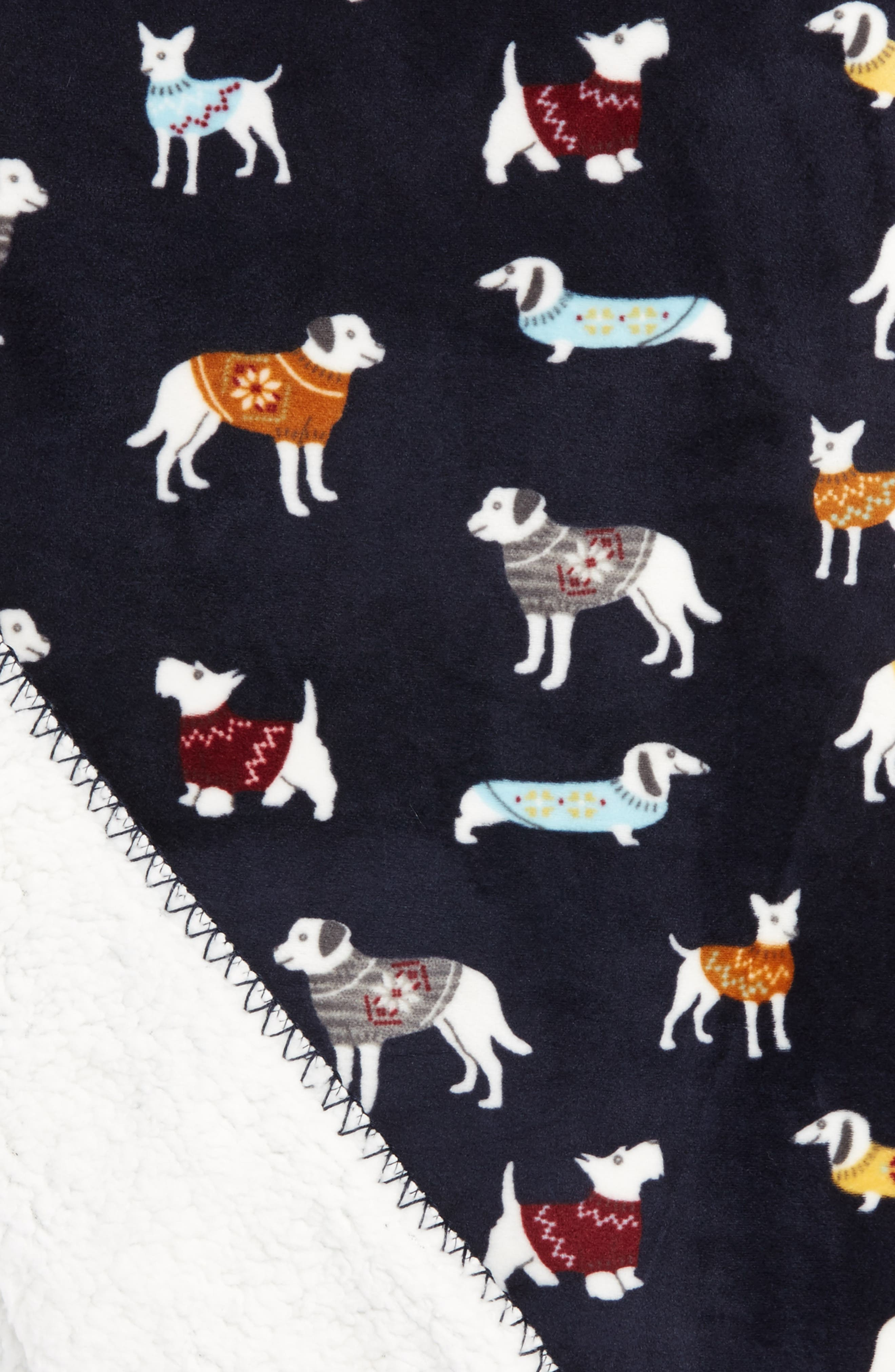 Dogs Wearing Sweaters Blanket,                             Alternate thumbnail 2, color,                             410
