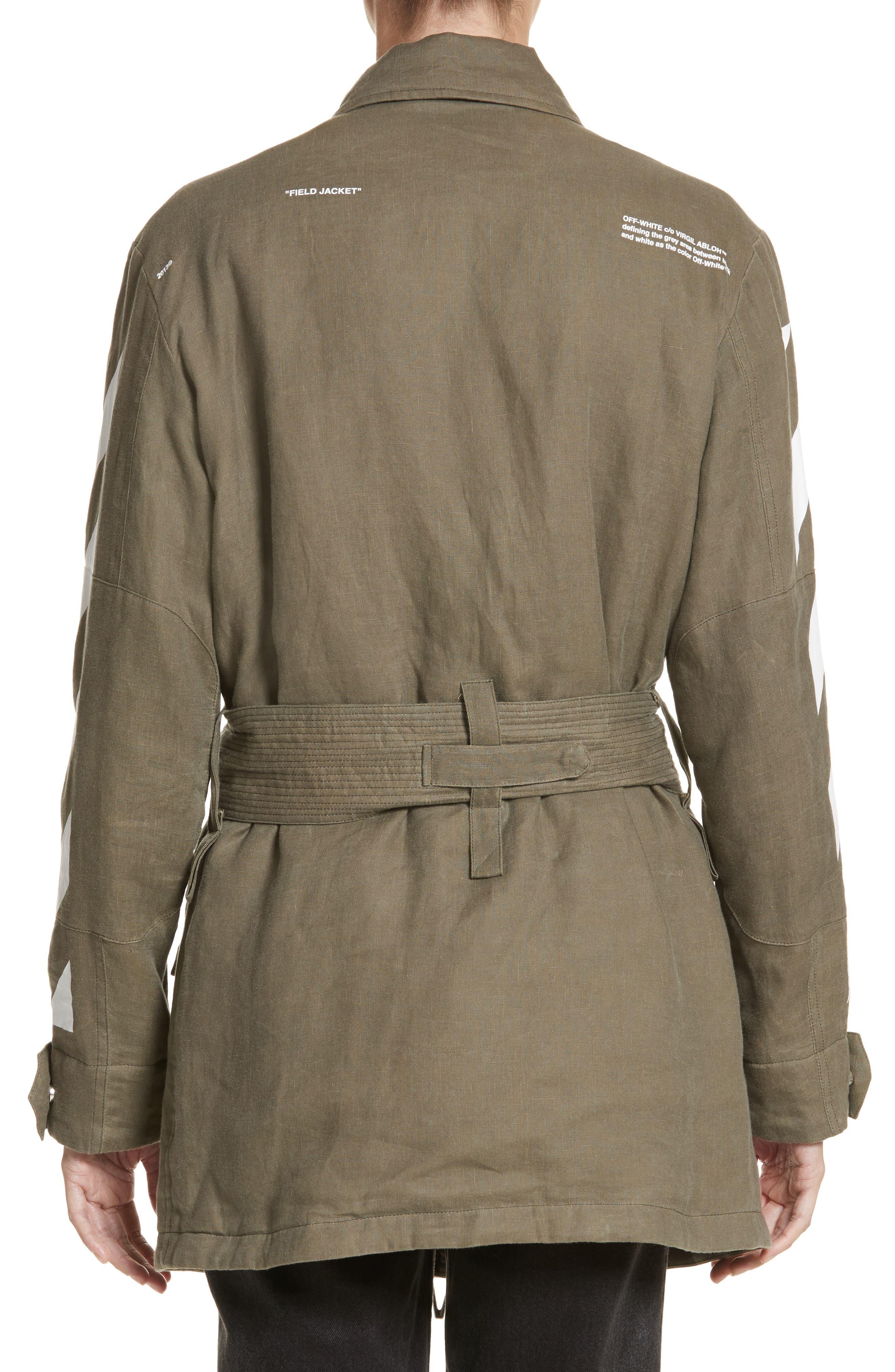 Diagonal Stripe Field Jacket,                             Alternate thumbnail 2, color,                             300