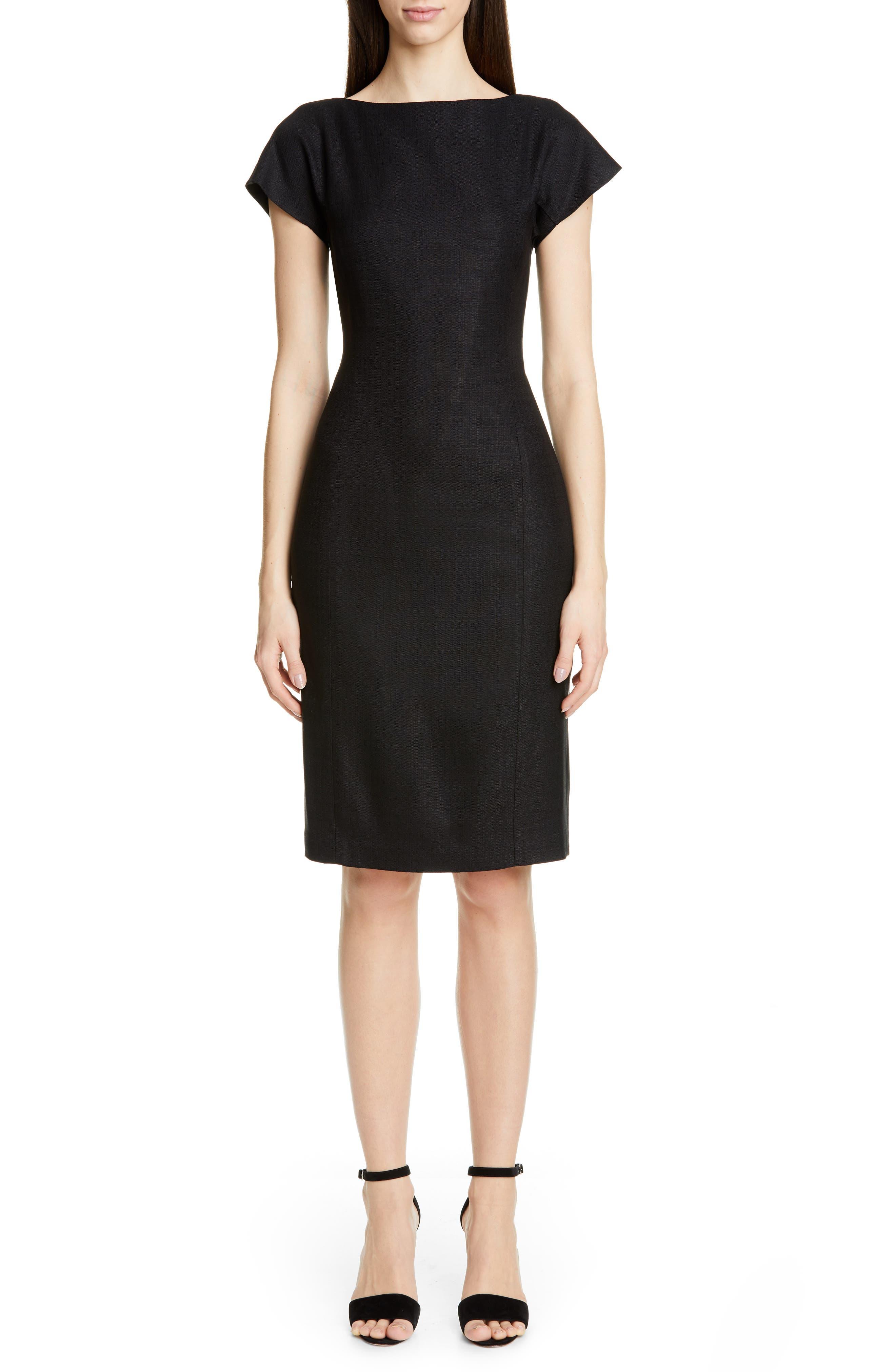 Adam Lippes Back Pleat Dress, Black