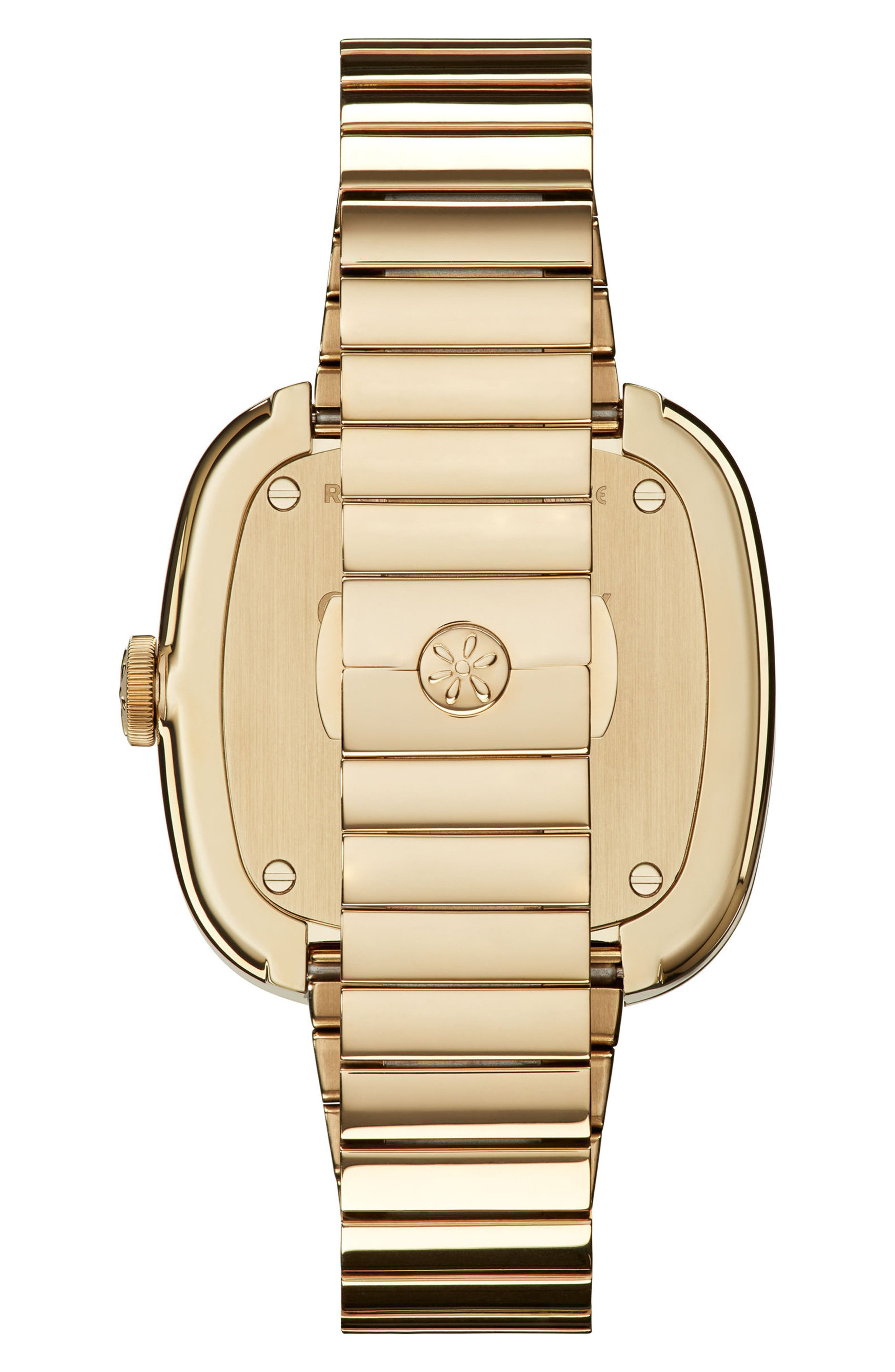 GOMELSKY,                             The Eppie Sneed Mini Bracelet Watch, 32mm,                             Alternate thumbnail 2, color,                             GOLD/ MOP GOLD