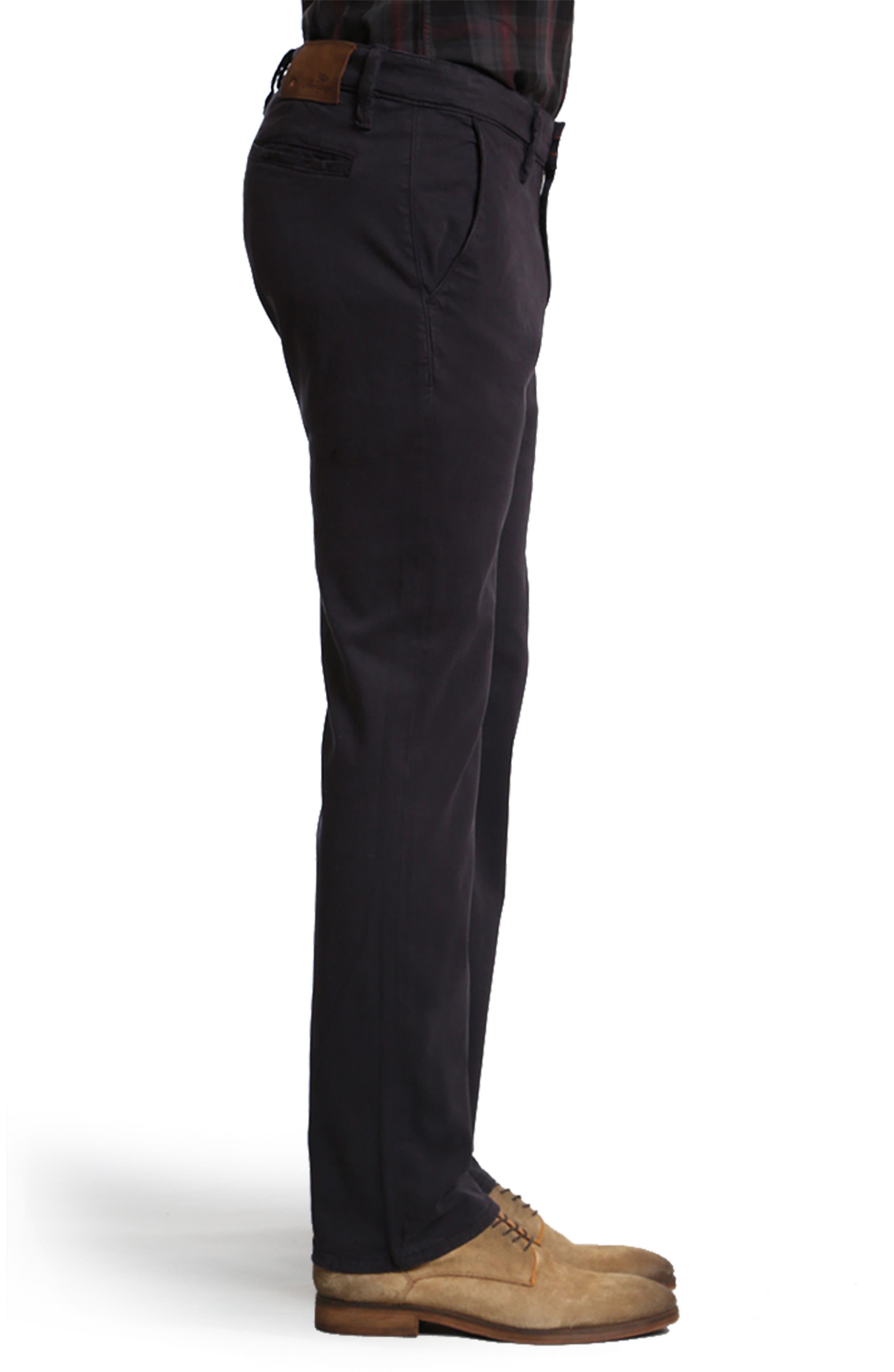 Naples Straight Leg Twill Pants,                             Alternate thumbnail 3, color,                             NAVY TWILL