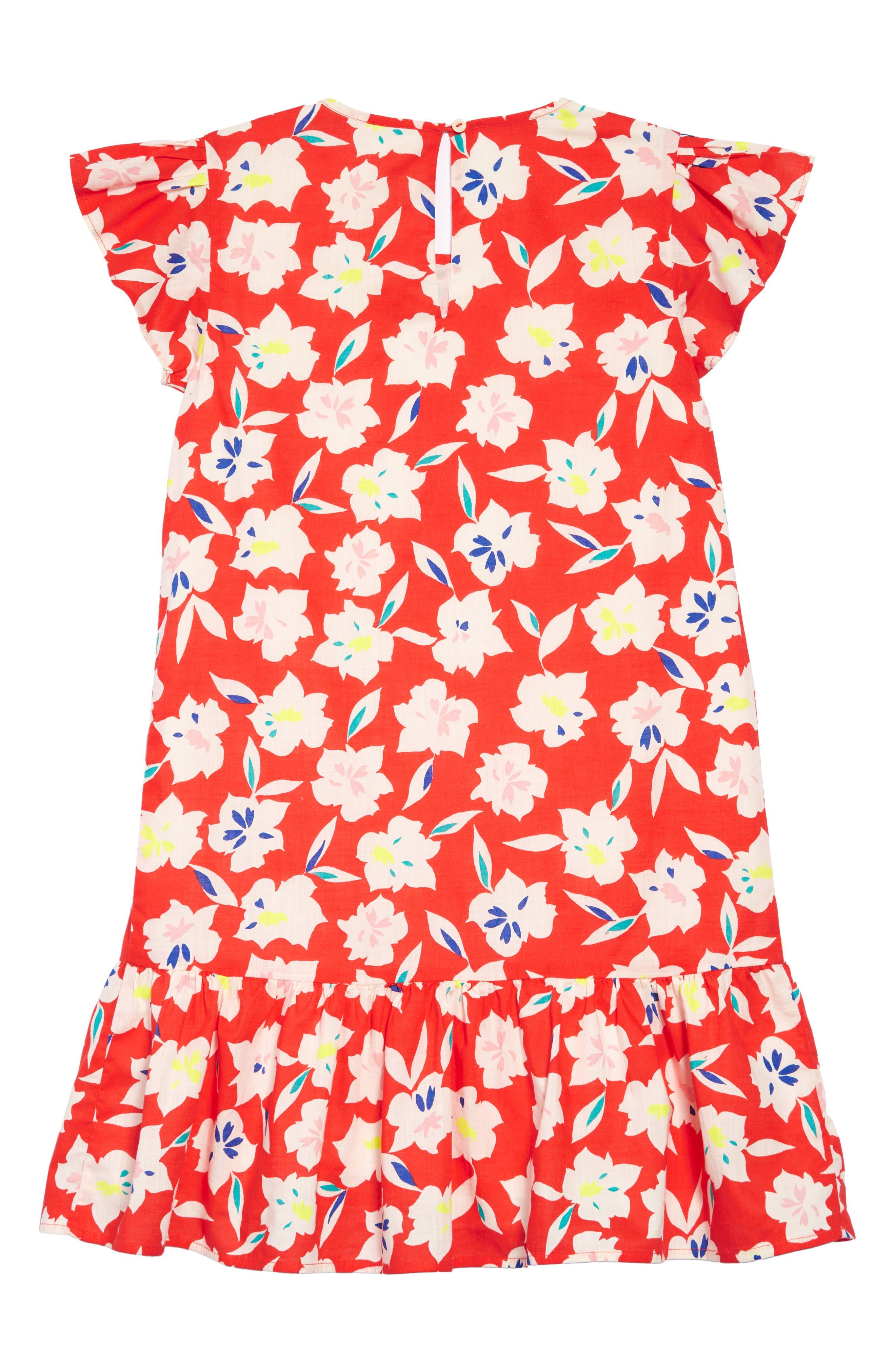 Floral Ruffle Trim Dress,                             Alternate thumbnail 2, color,                             650