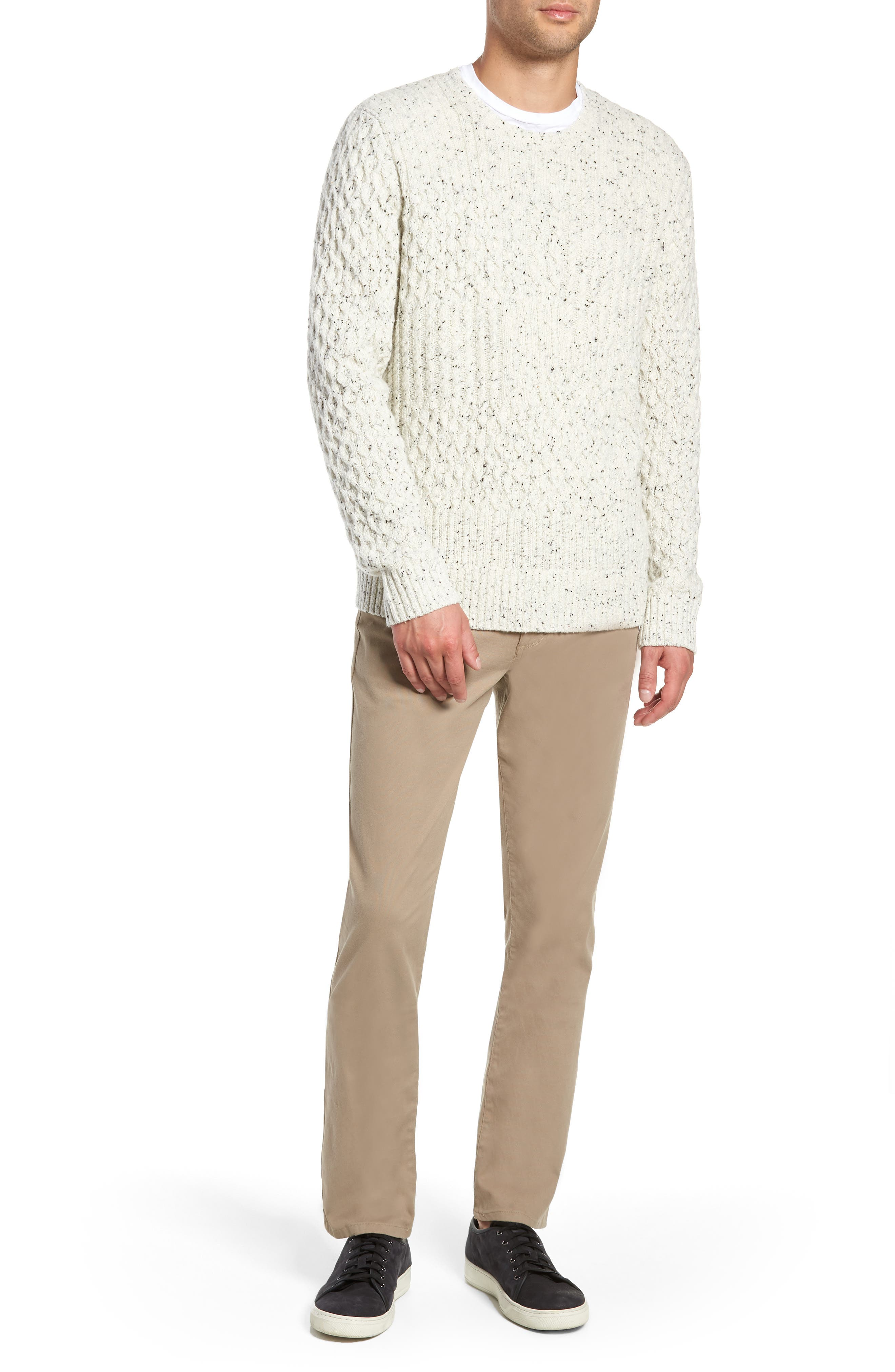 VINCE,                             Cable Knit Sweater,                             Alternate thumbnail 7, color,                             H WHITE