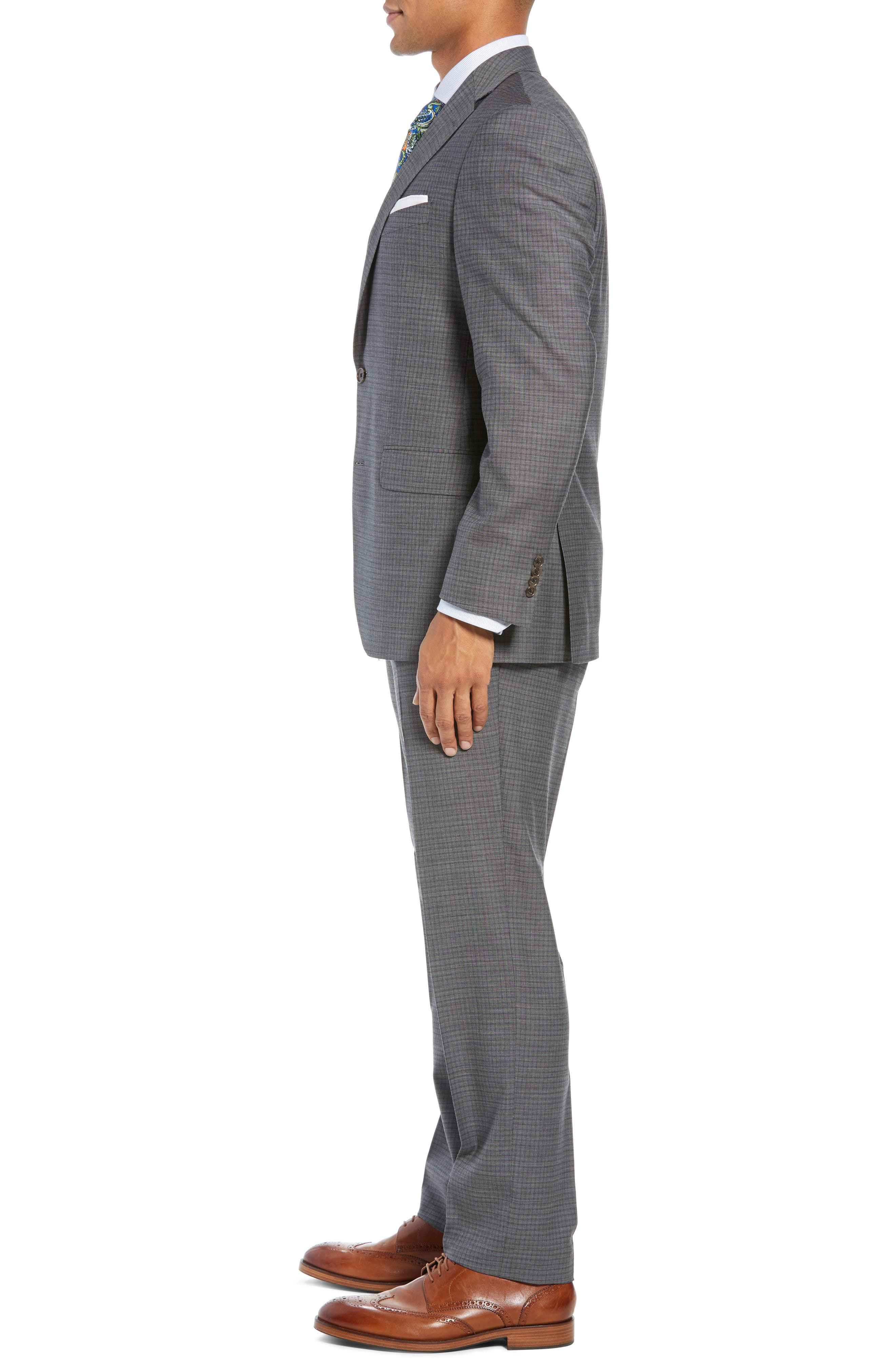 Ryan Classic Fit Stretch Check Wool Suit,                             Alternate thumbnail 3, color,                             CHARCOAL