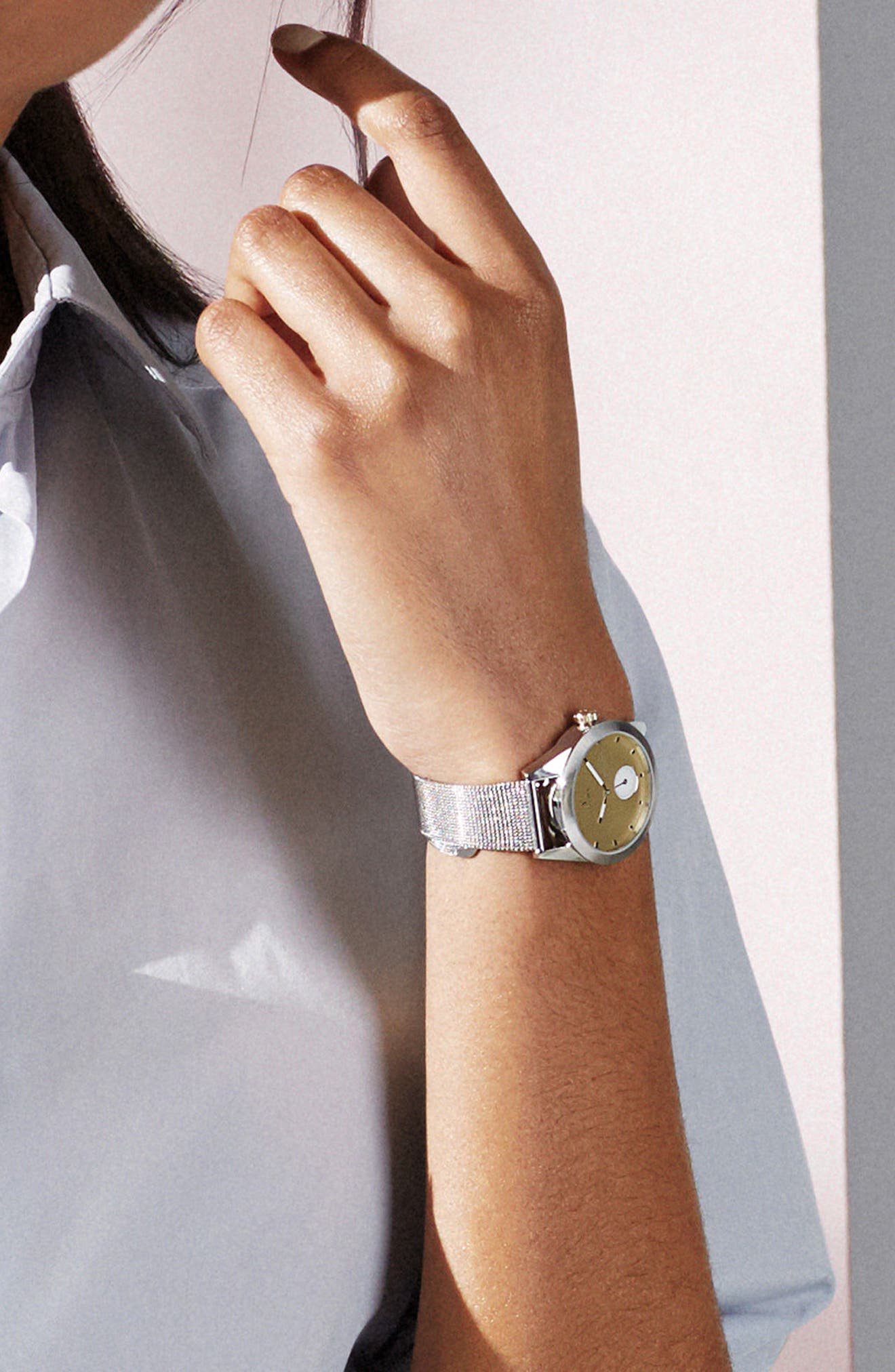 Birch Aska Super Slim Mesh Strap Watch, 32mm,                             Alternate thumbnail 5, color,                             040