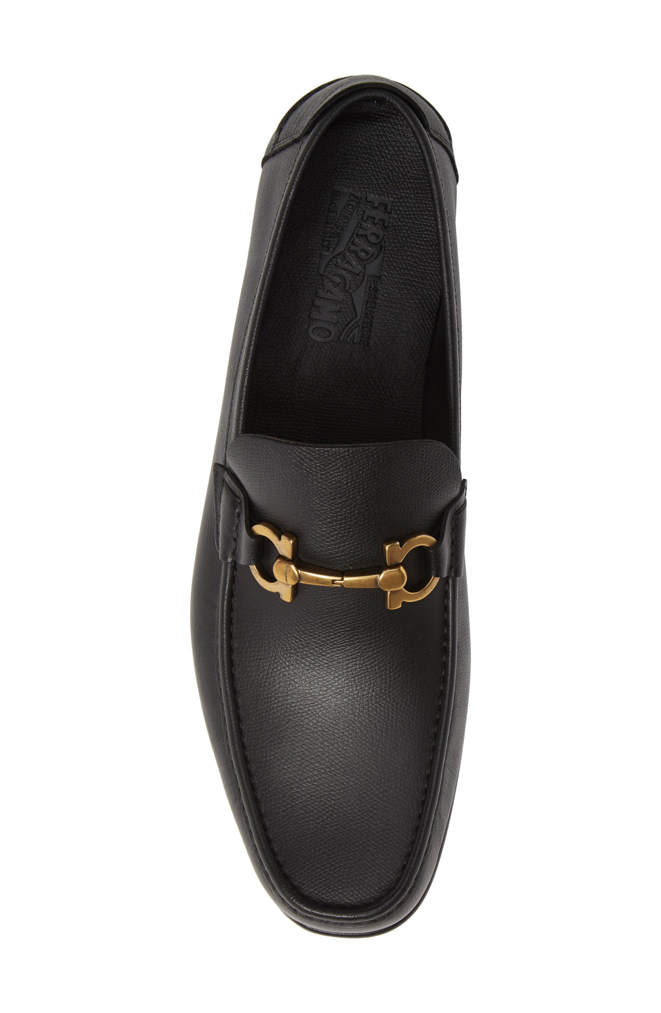 Fiordi Bit Loafer,                             Alternate thumbnail 5, color,                             NERO LEATHER