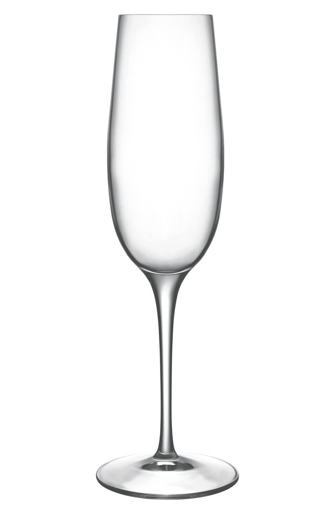 'Crescendo' Champagne Flutes,                             Main thumbnail 1, color,                             CLEAR