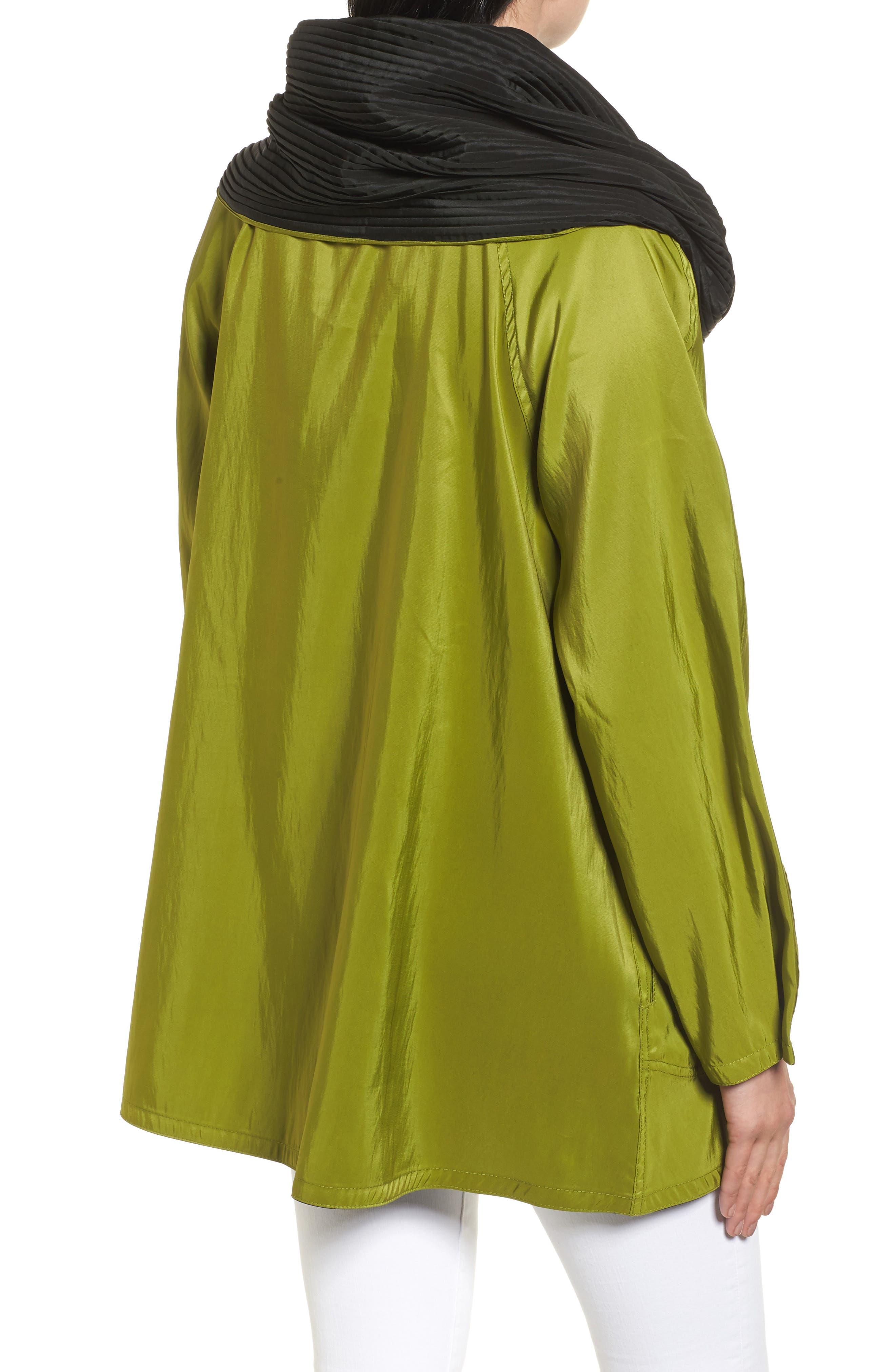 'Mini Donatella' Reversible Pleat Hood Packable Travel Coat,                             Alternate thumbnail 2, color,                             316