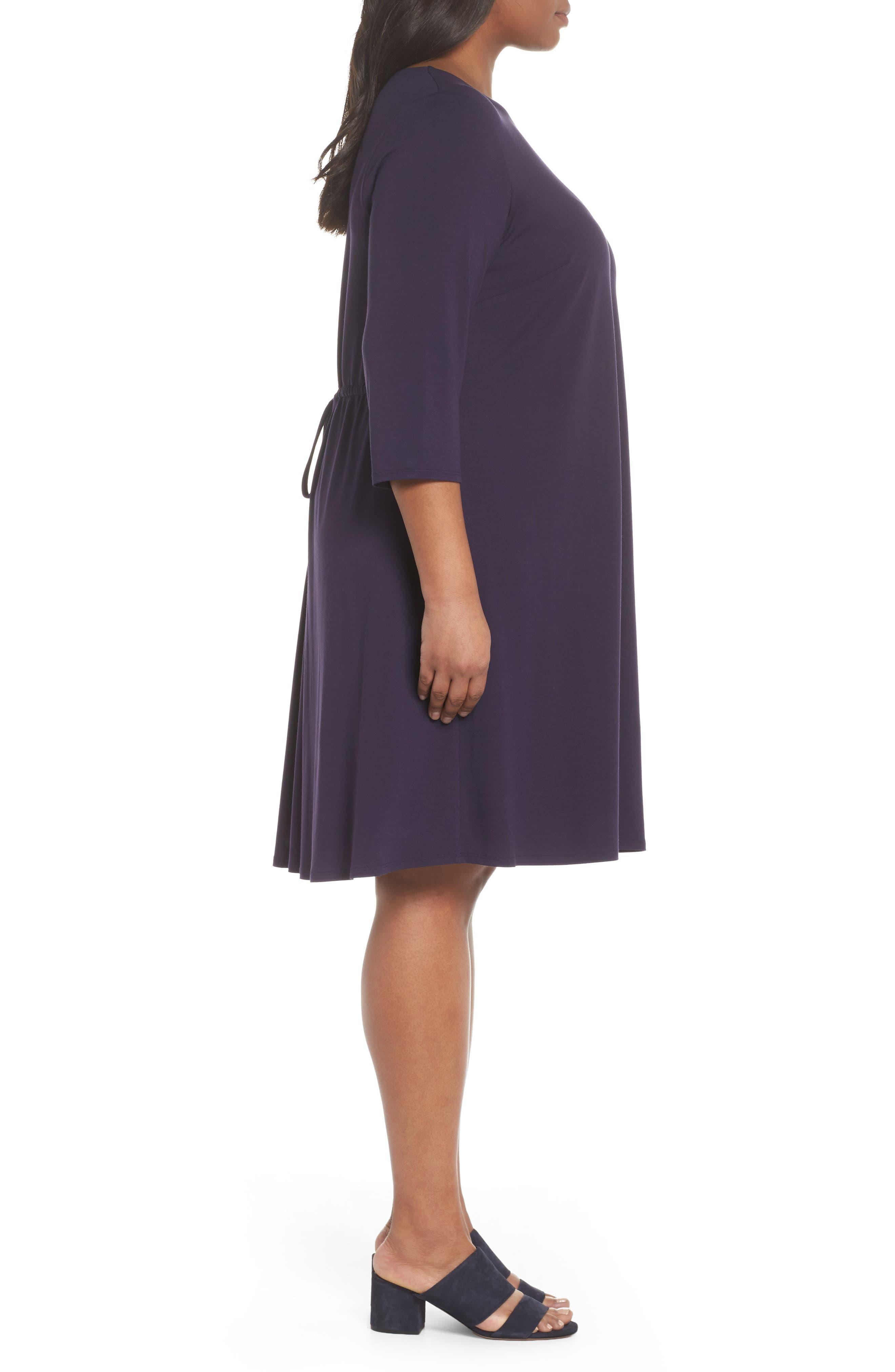 Jewel Neck Tie Back Dress,                             Alternate thumbnail 14, color,