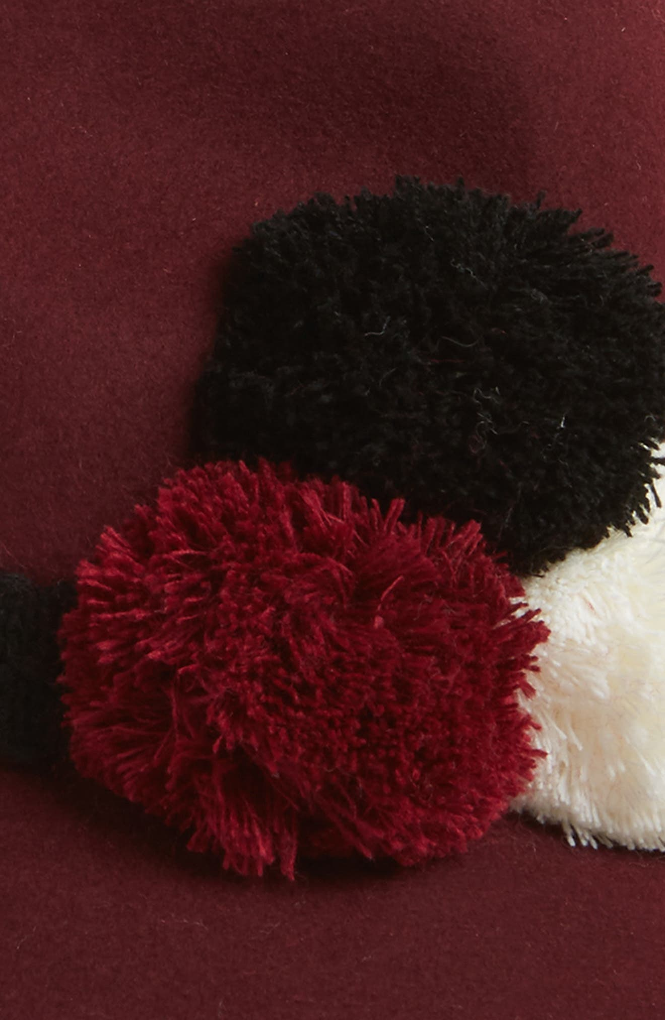 Pompom Wool Fedora,                             Alternate thumbnail 2, color,                             930