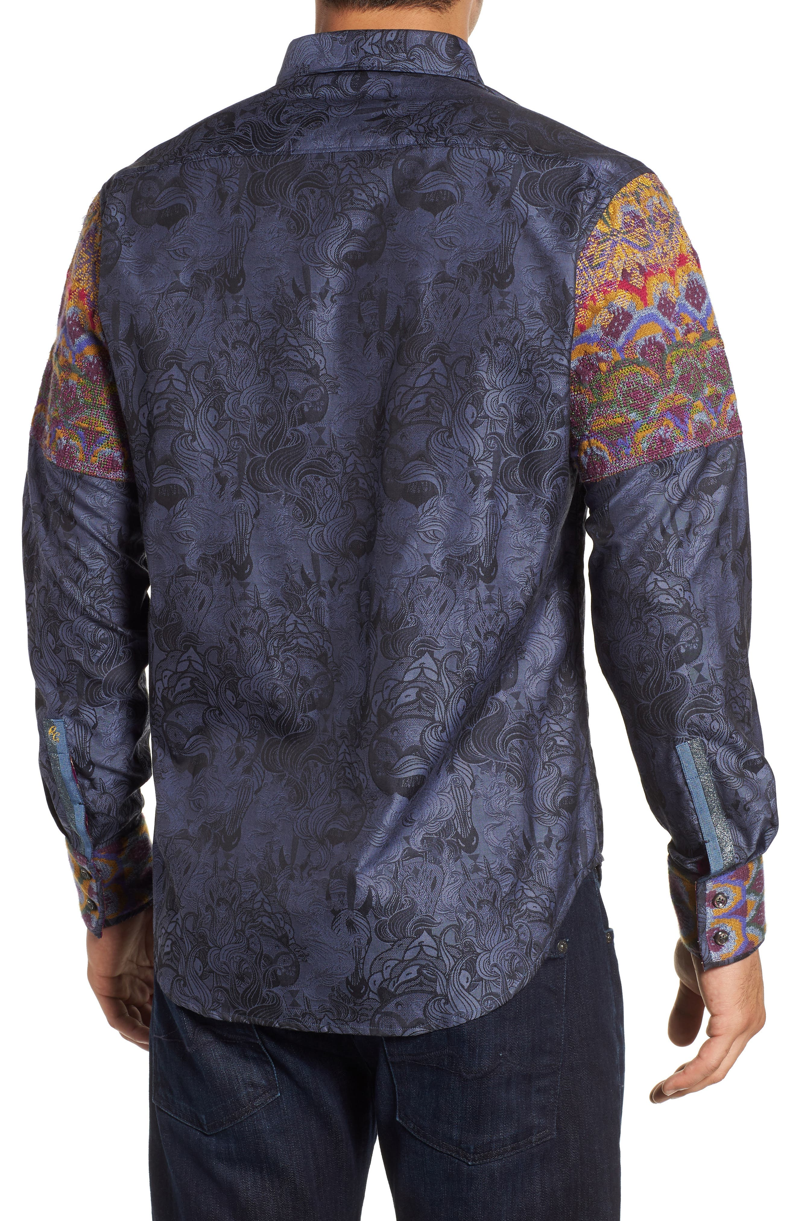 Paradise Valley Classic Fit Sport Shirt,                             Alternate thumbnail 3, color,                             MULTI