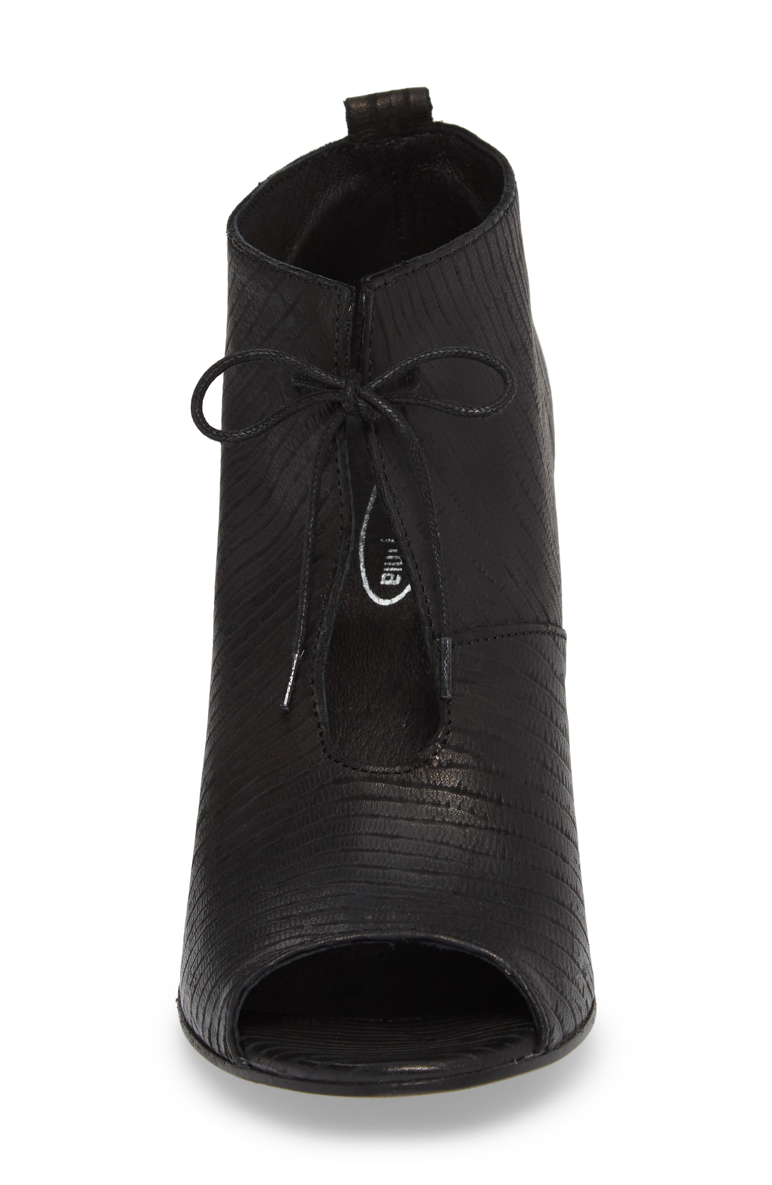 Lacey1 Bootie,                             Alternate thumbnail 4, color,                             BLACK LEATHER