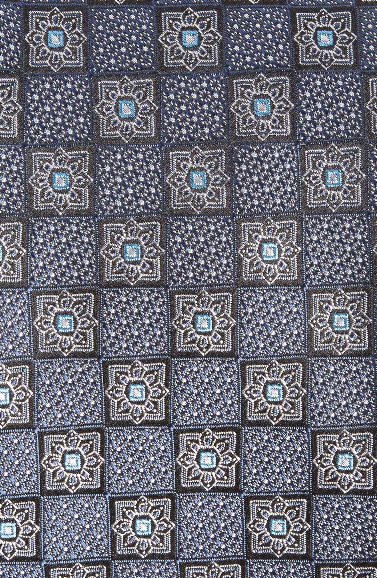 Settala Medallion Silk Tie,                             Alternate thumbnail 2, color,                             001