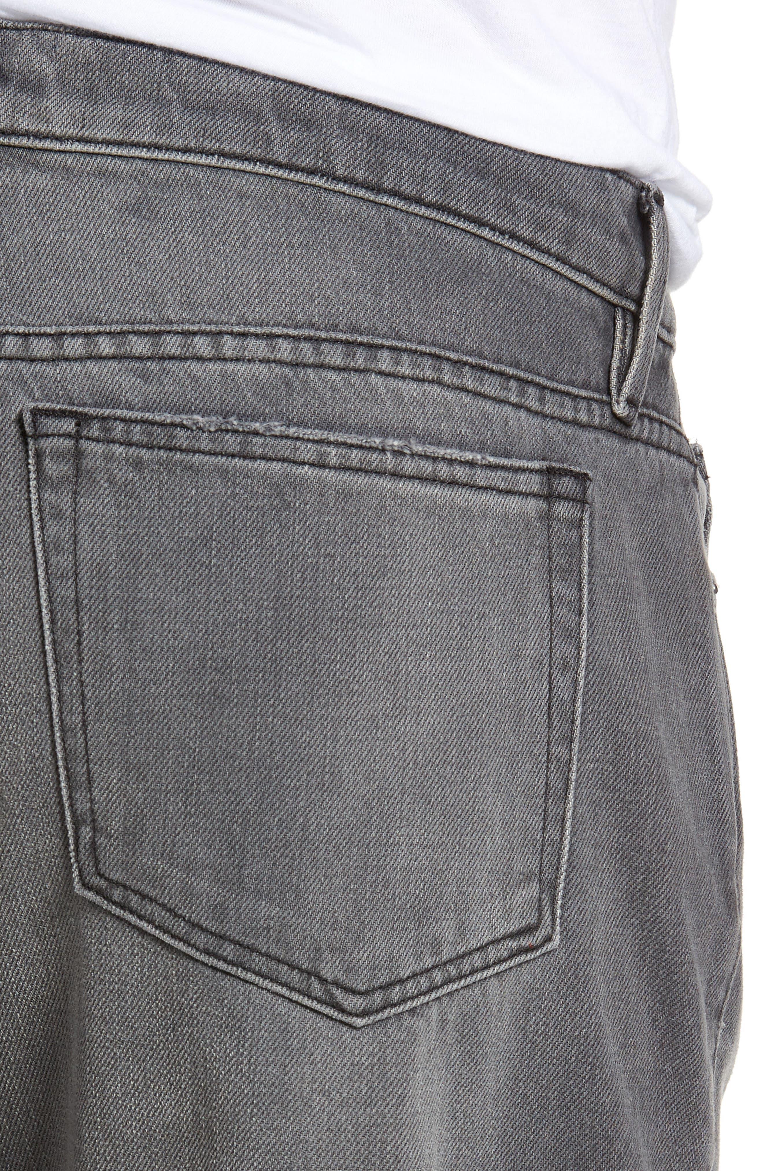 L'Homme Slim Straight Leg Jeans,                             Alternate thumbnail 4, color,                             050